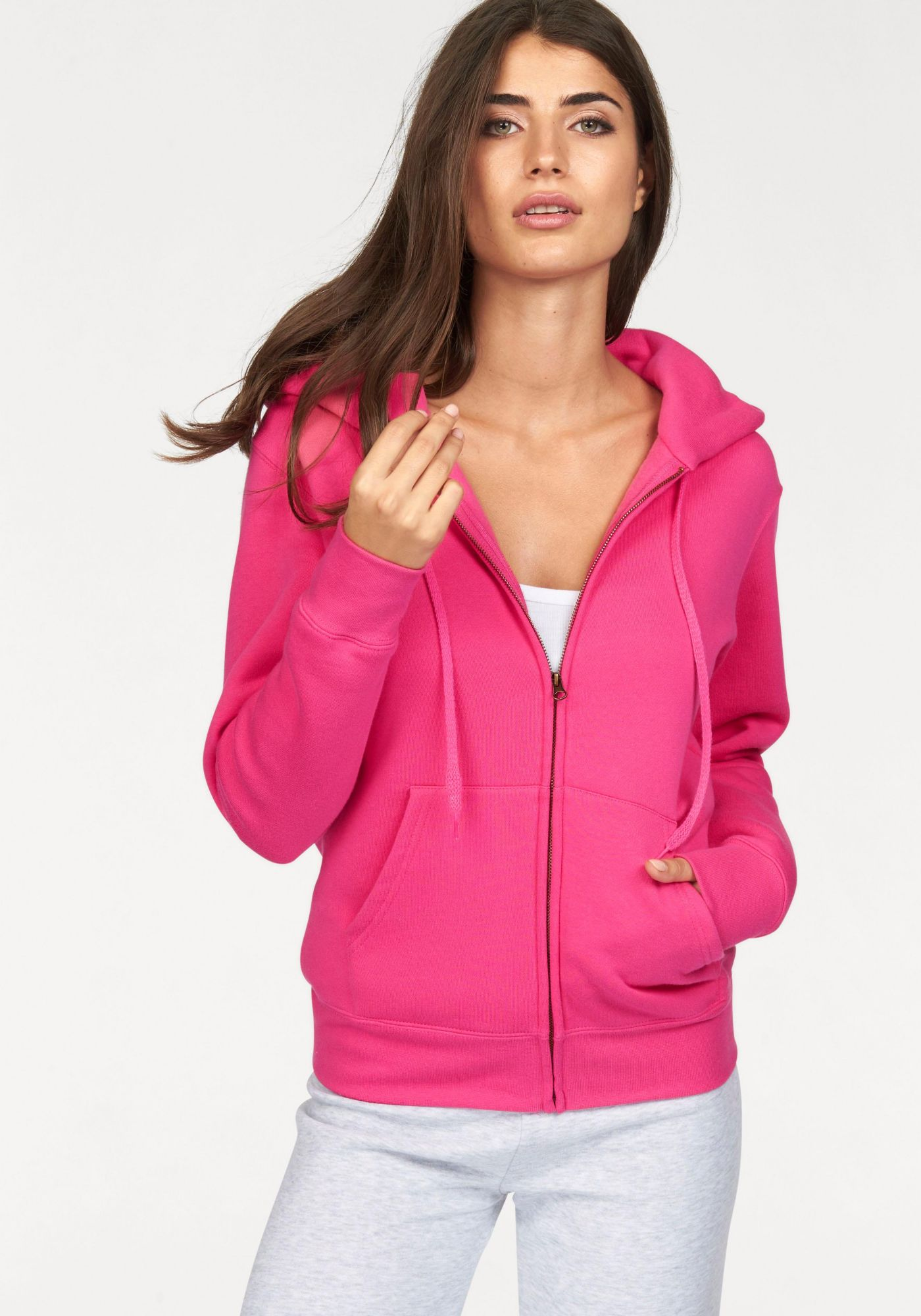 FRUIT OF THE LOOM Fruit of the Loom Kapuzensweatshirt »Lady-Fit Premium hooded Sweat Jacket«