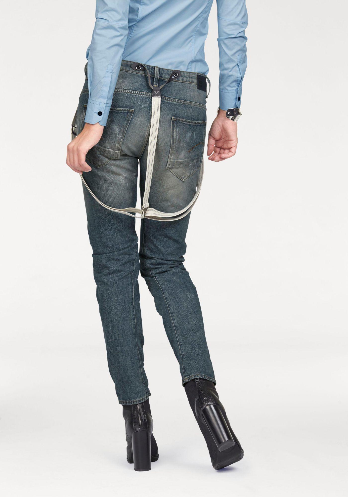 G STAR G-Star Boyfriend-Jeans »Arc Braces 3D« (Set, 1 tlg., mit Hosenträgern)