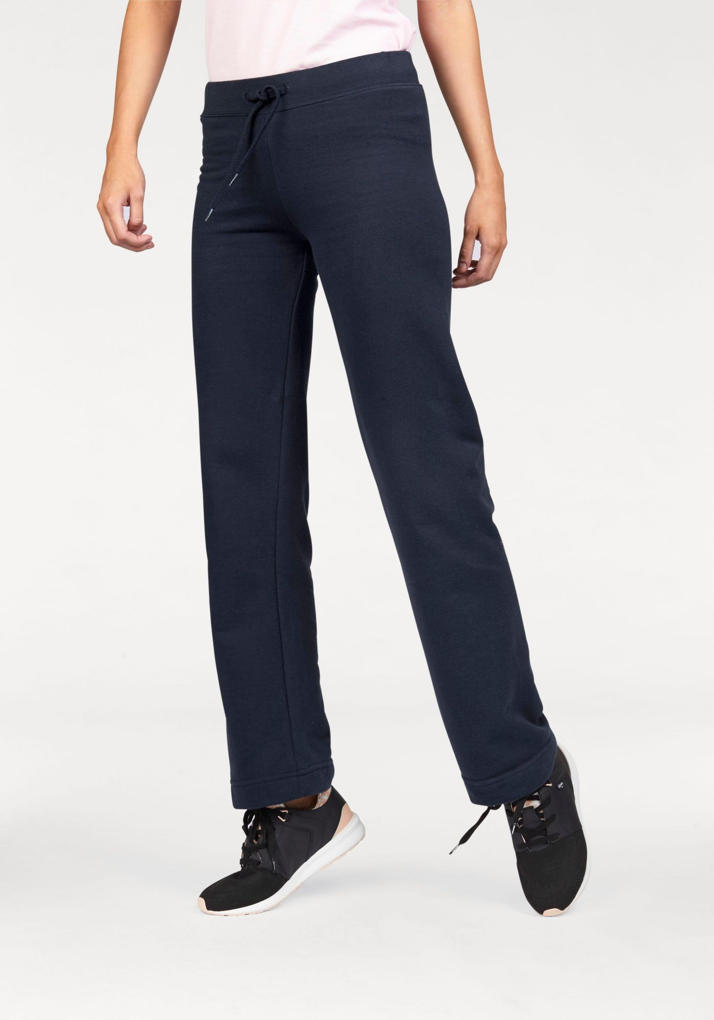 FRUIT OF THE LOOM Fruit of the Loom Jogginghose »Lady-Fit Jog Pants mit offenem Beinabschluss«
