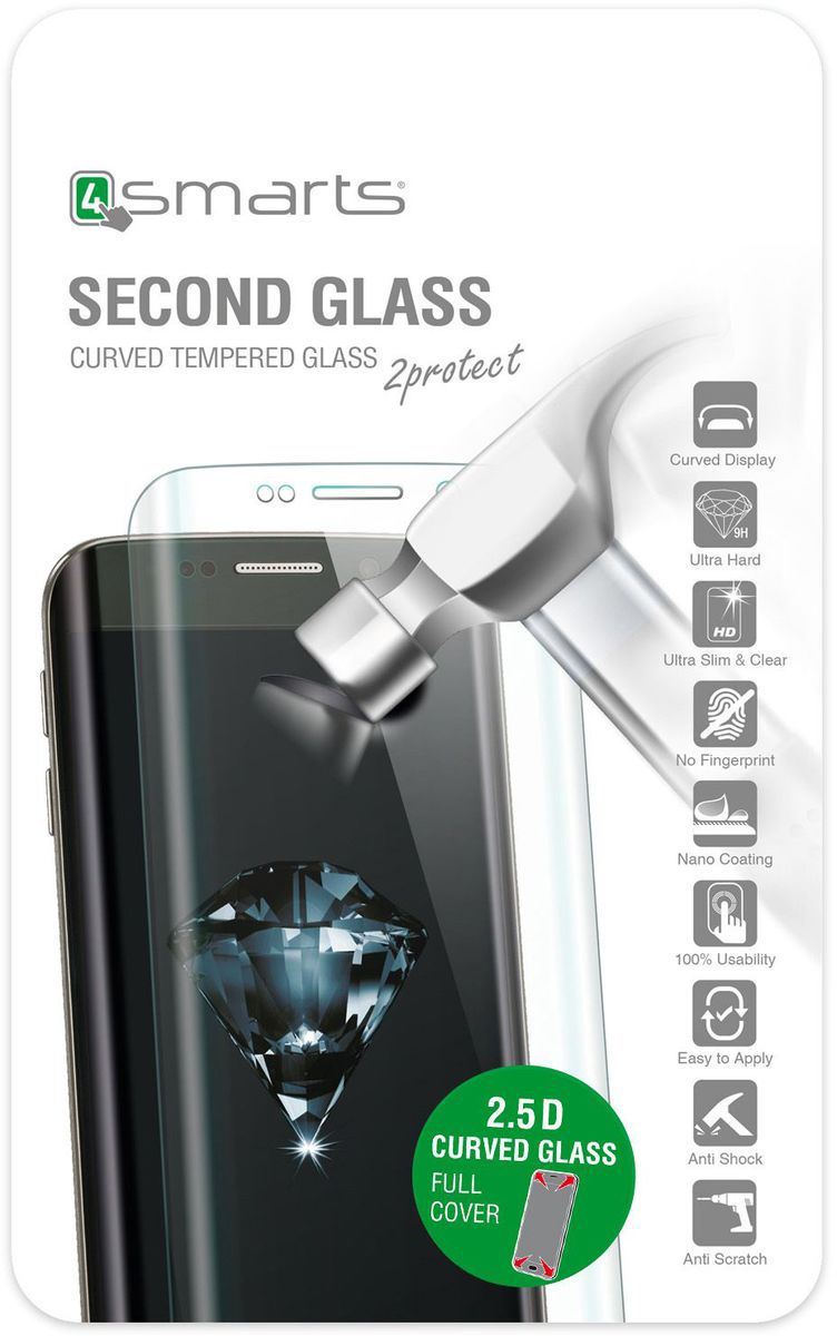4SMARTS 4Smarts Folie »Second Glass Curved 2.5D für Apple iPhone 5,5«