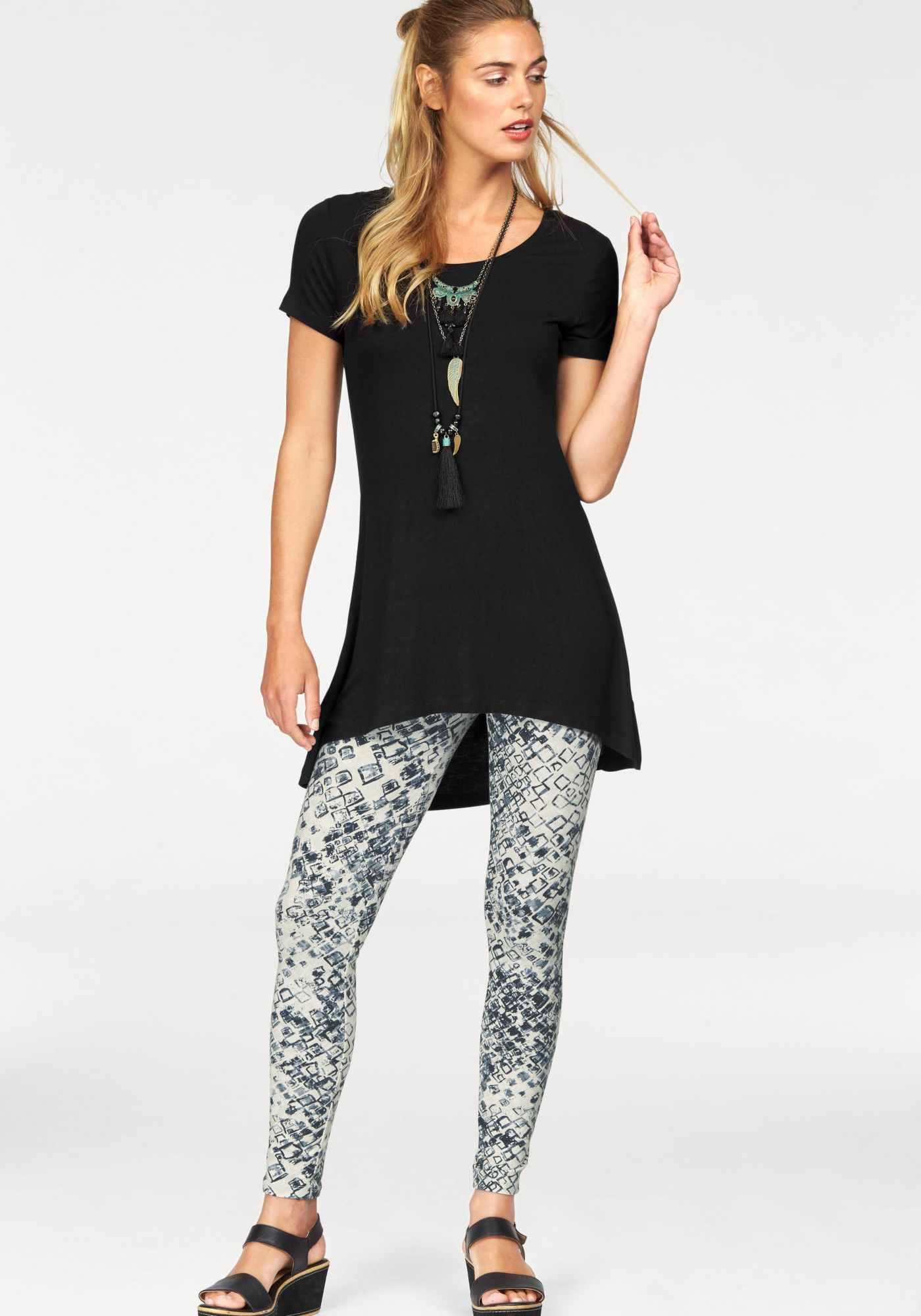 FLG FLASHLIGHTS Flashlights Longshirt »Vokuhila« (Set, mit Leggings)