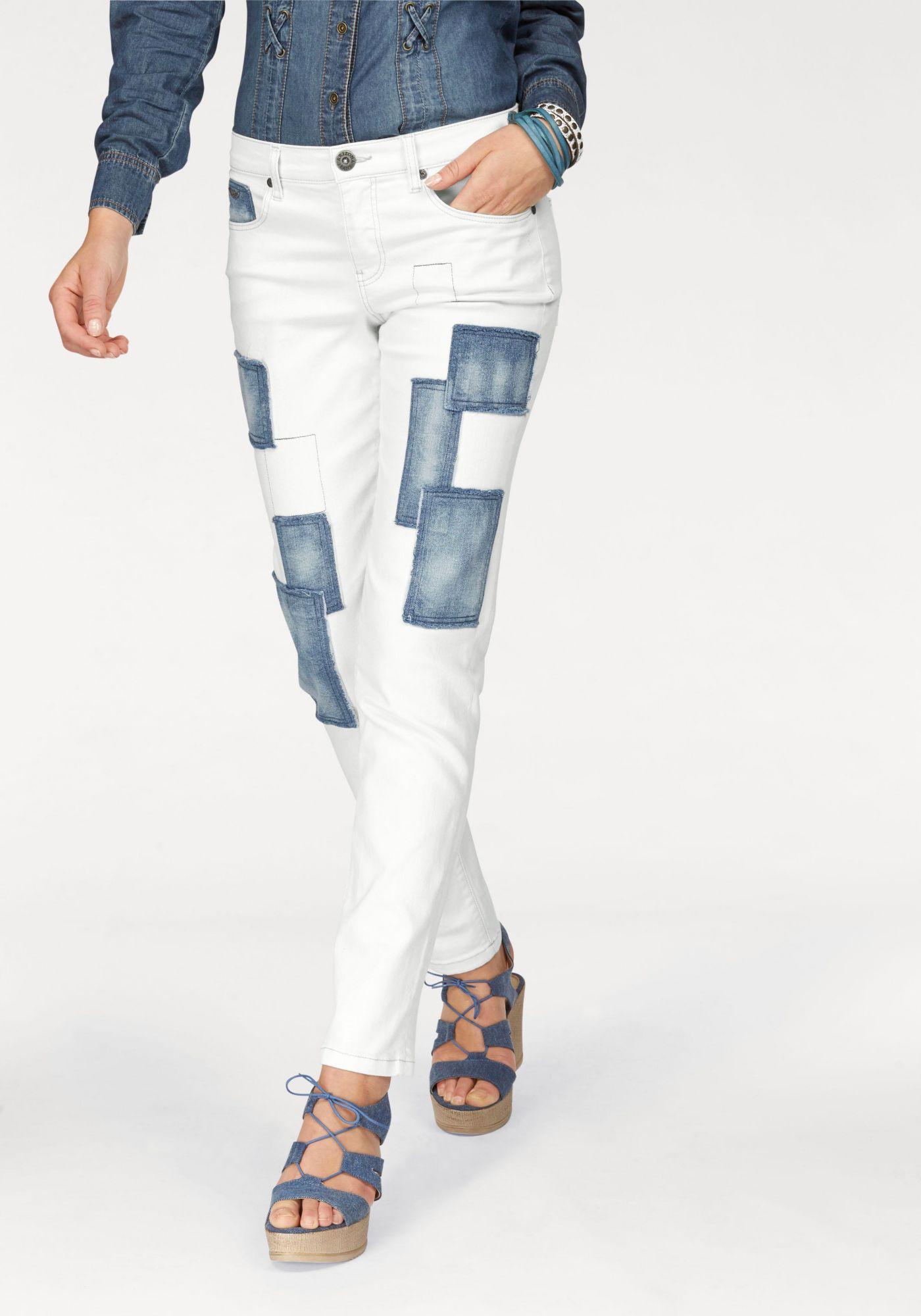ARIZONA Arizona Boyfriend-Jeans »mit  Patches«