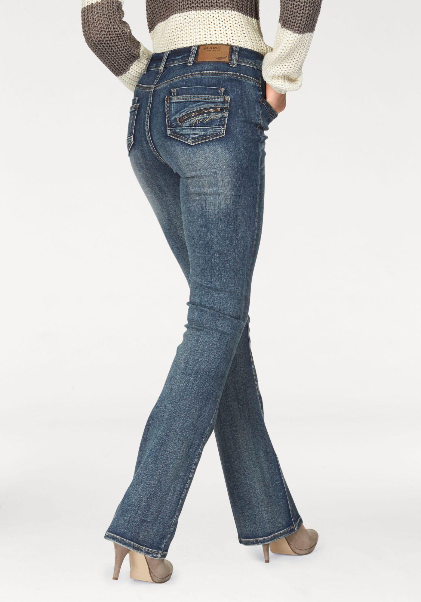 ARIZONA Arizona Bootcut-Jeans »mit Zippertasche«