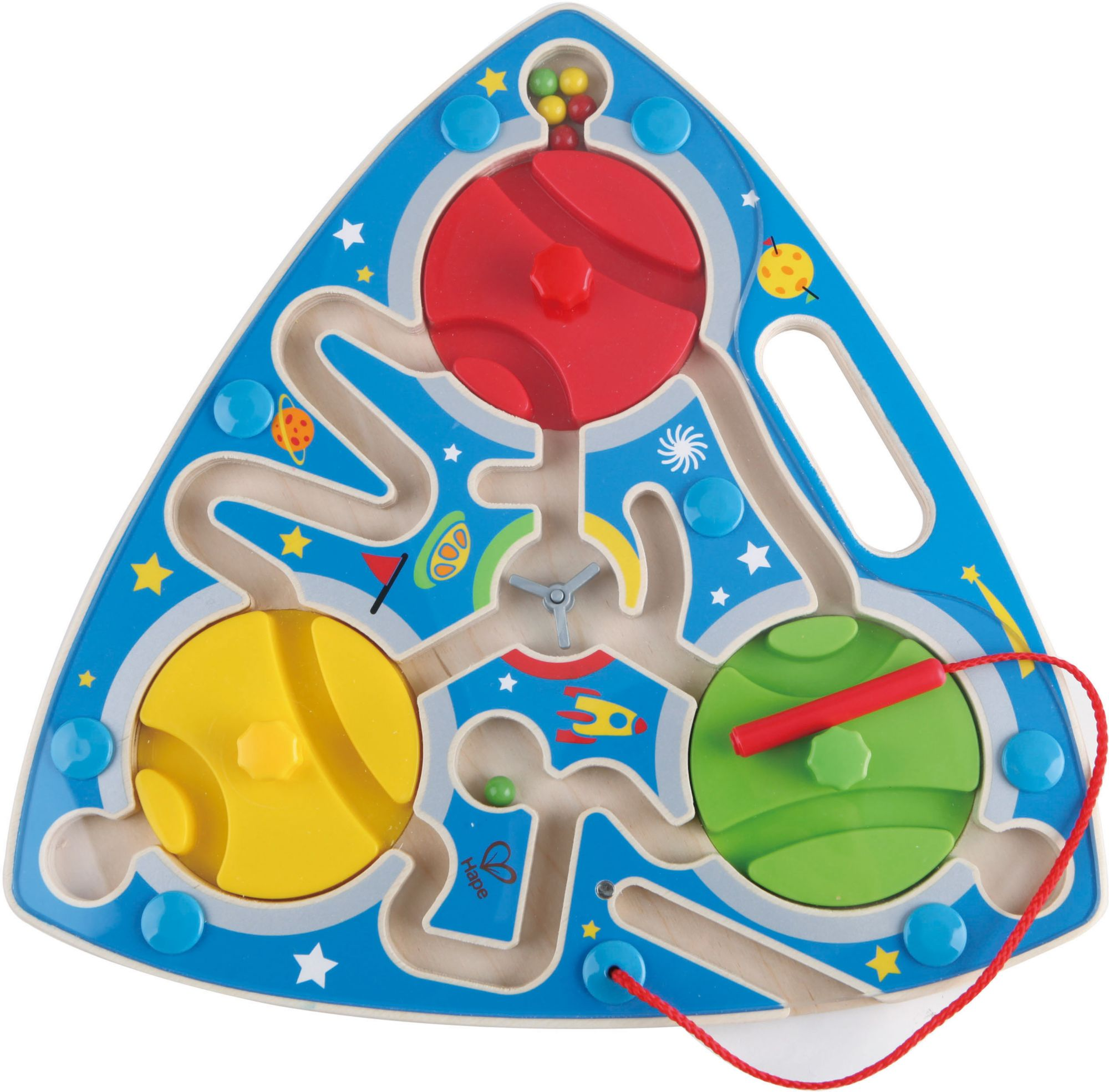 HAPE Hape Magnetspiel aus Holz, »Labyrinth Weltall«