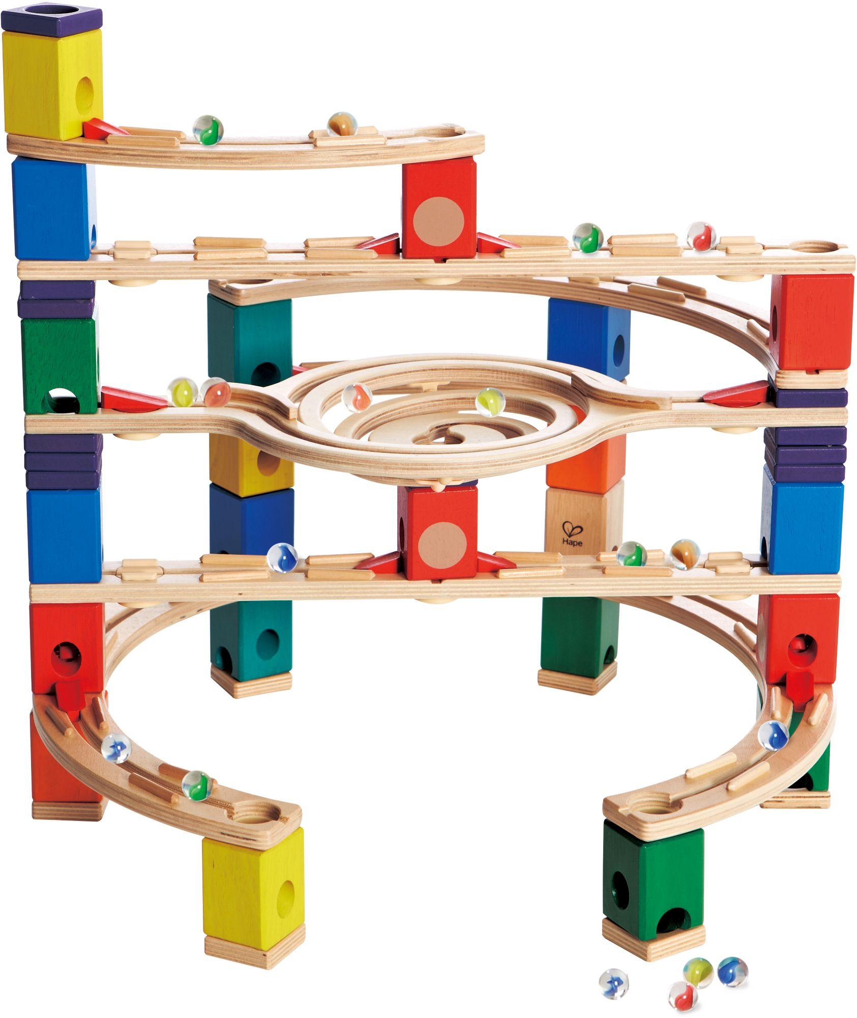 HAPE Hape Kugelbahn aus Holz, »Quadrilla Loop de Loop«