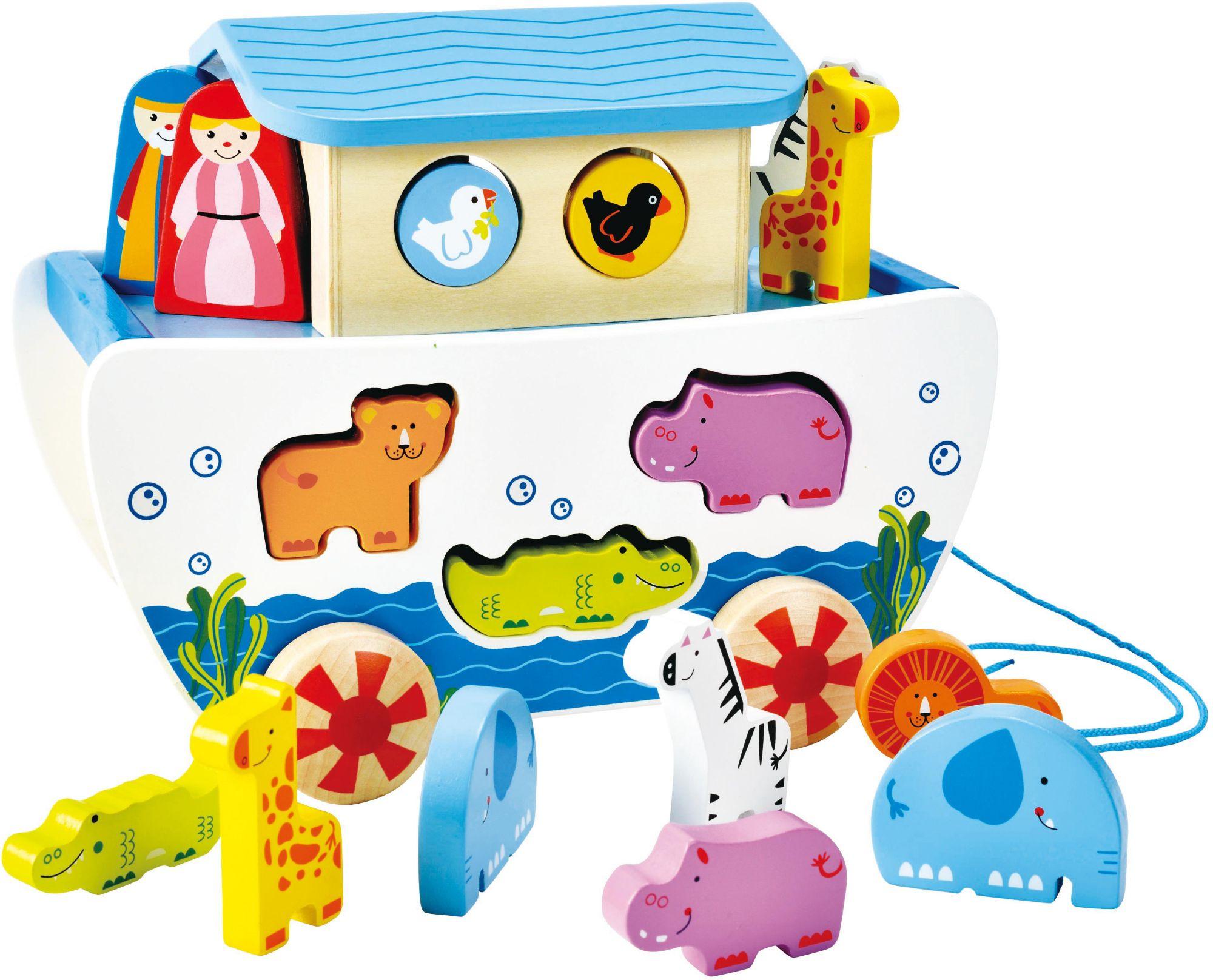 HAPE Hape Nachziehspielzeug mit Holztieren, »Nachzieh-Arche«