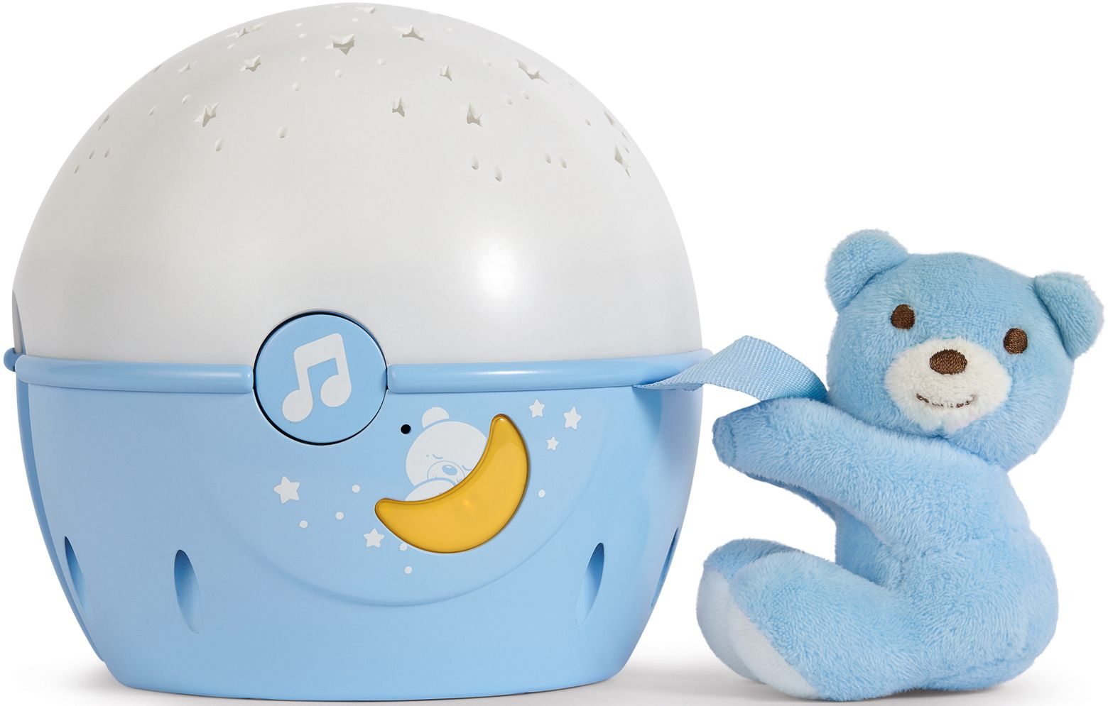 CHICCO Chicco® 2in1 Projektor mit Soundfunktion, »First Dreams Next 2 Stars Nachtlicht, Hellblau«