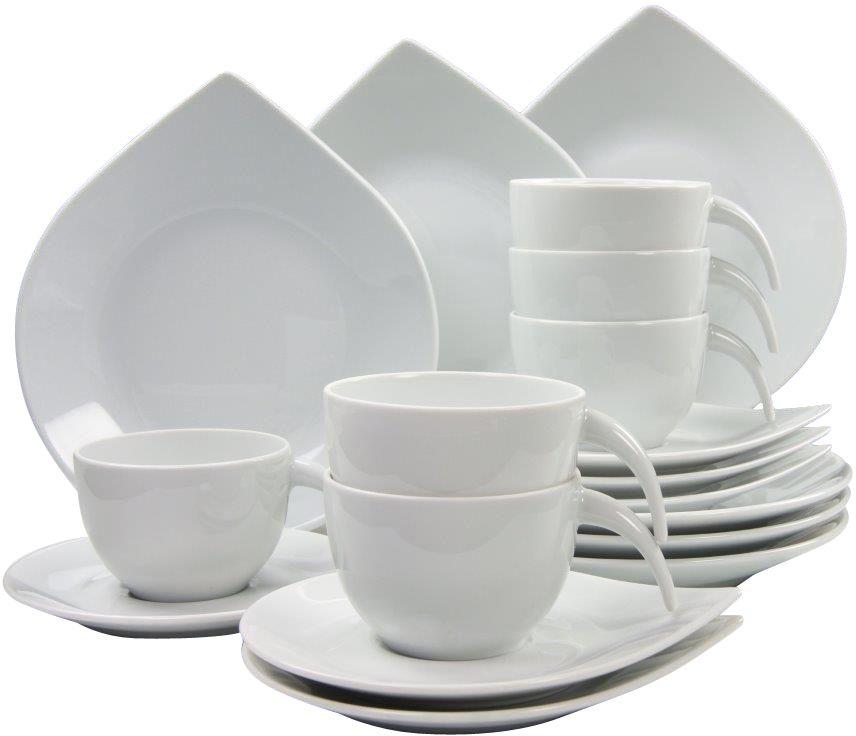 CREATABLE CreaTable Kaffeeservice, Porzellan, 18 Teile, »Drop«