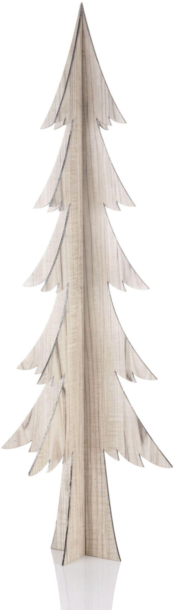 Deko-Tanne aus Holz, in verschiedenen Größen