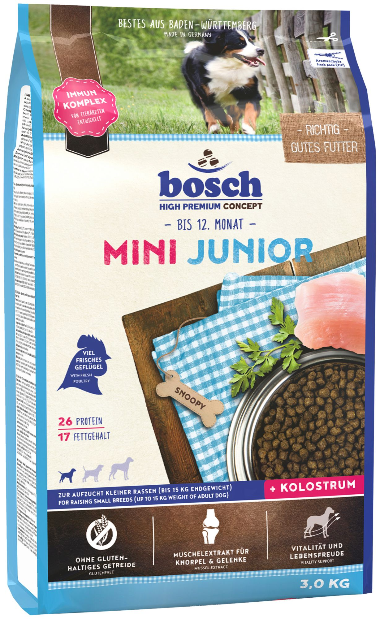 BOSCH PETFOOD Bosch Petfood Hundetrockenfutter »Mini Junior«, 3 kg