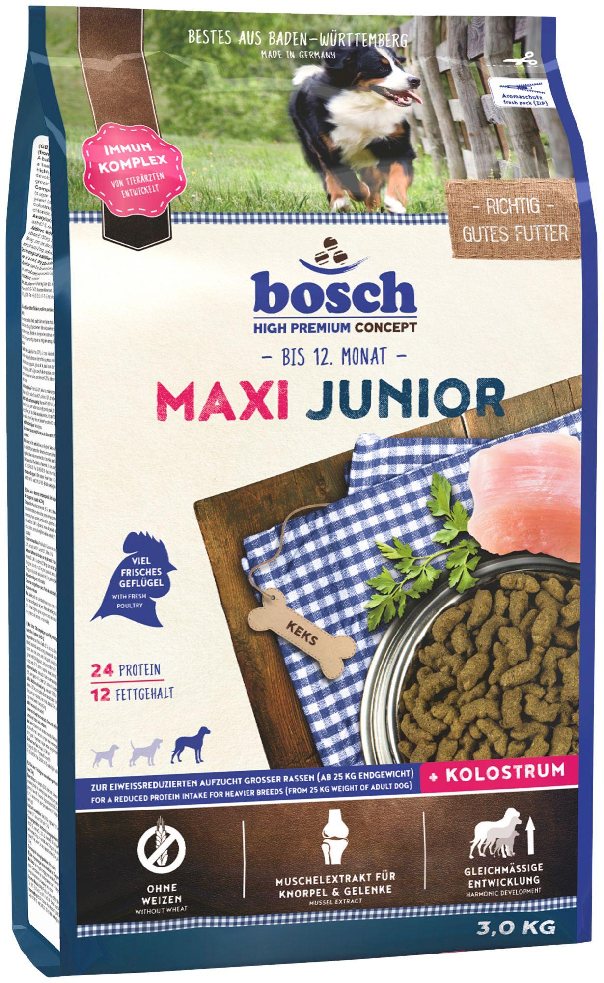 BOSCH PETFOOD Hundetrockenfutter »Maxi Junior«, 3 kg