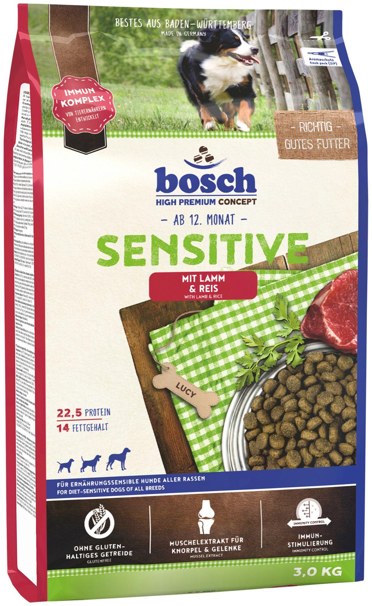 BOSCH PETFOOD Hundetrockenfutter »Sensitive Lamm & Reis«, 3 kg
