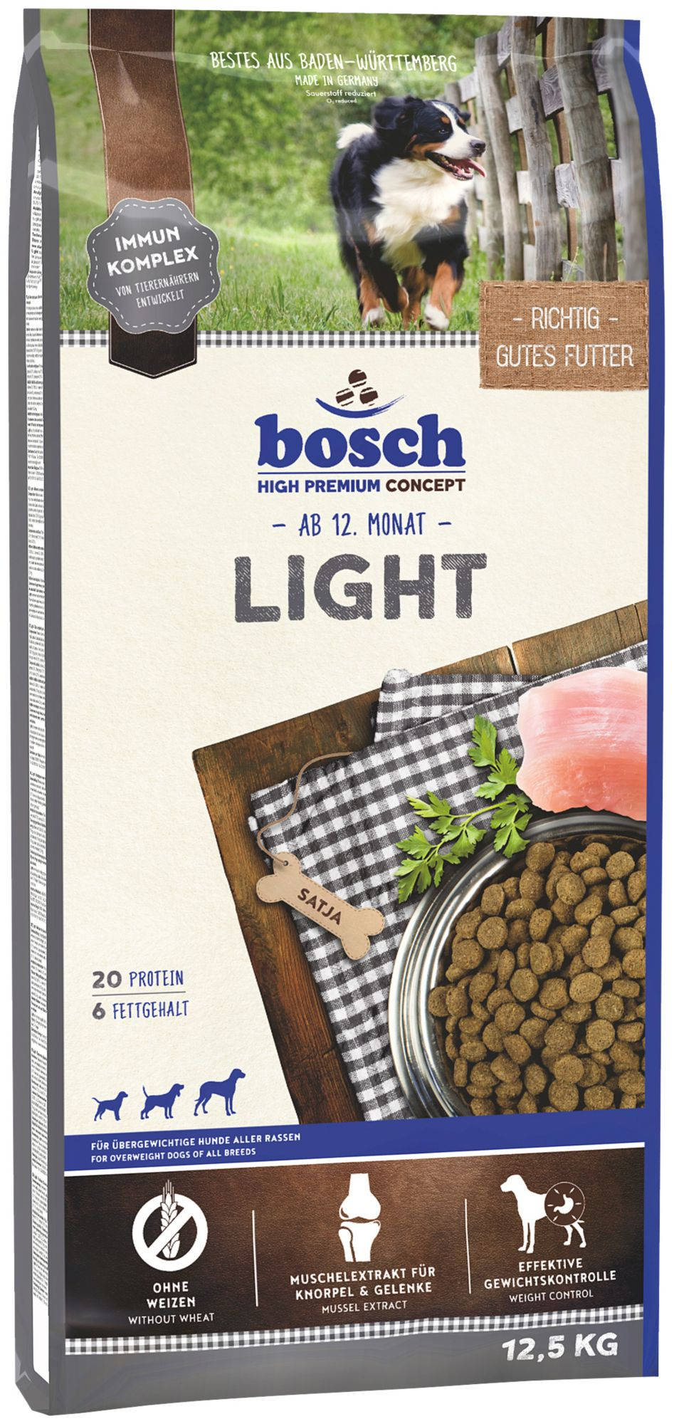 BOSCH PETFOOD Bosch Petfood Hundetrockenfutter »Light«, 12,5 kg