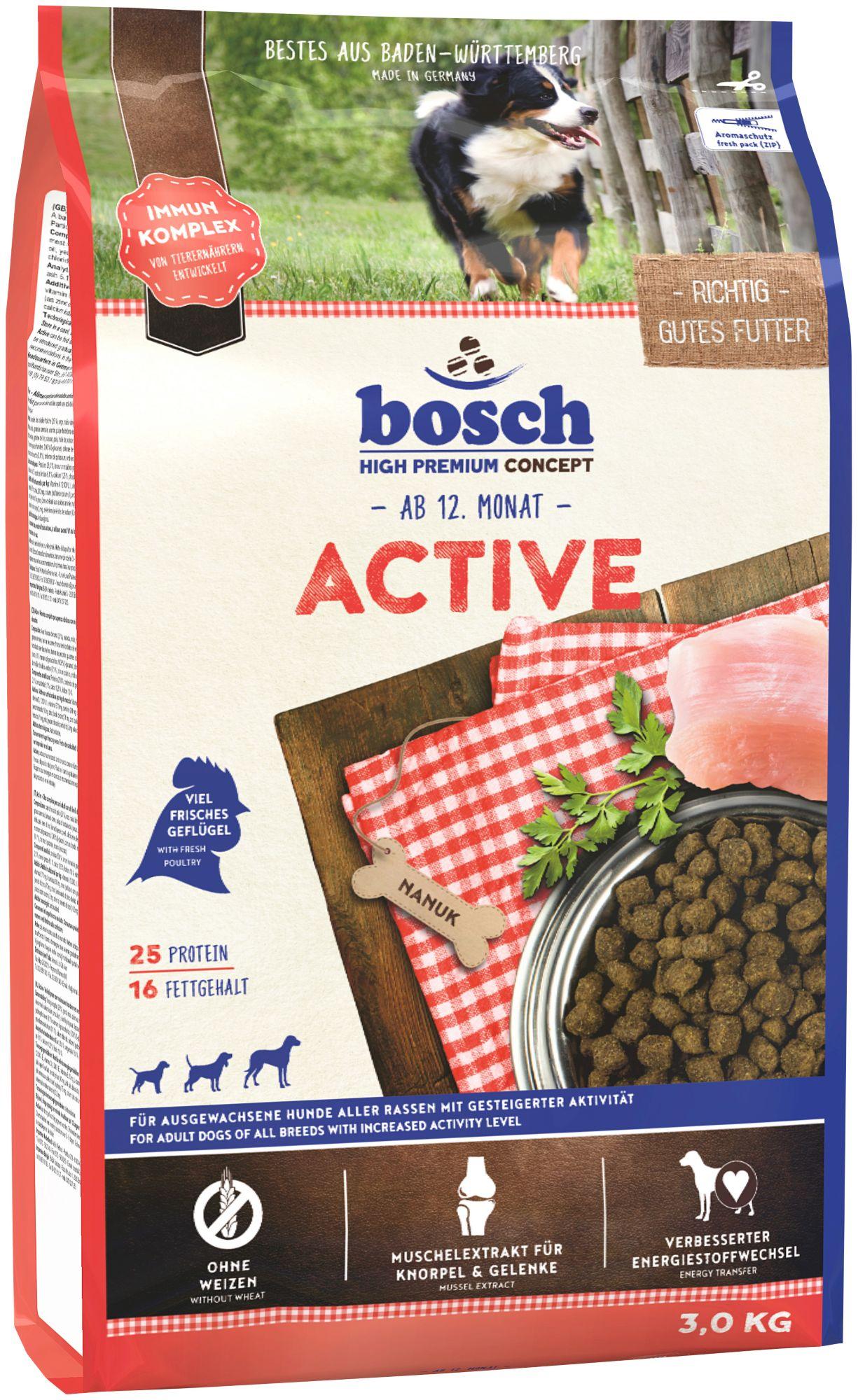 BOSCH PETFOOD Hundetrockenfutter »Adult Active«, 3 kg