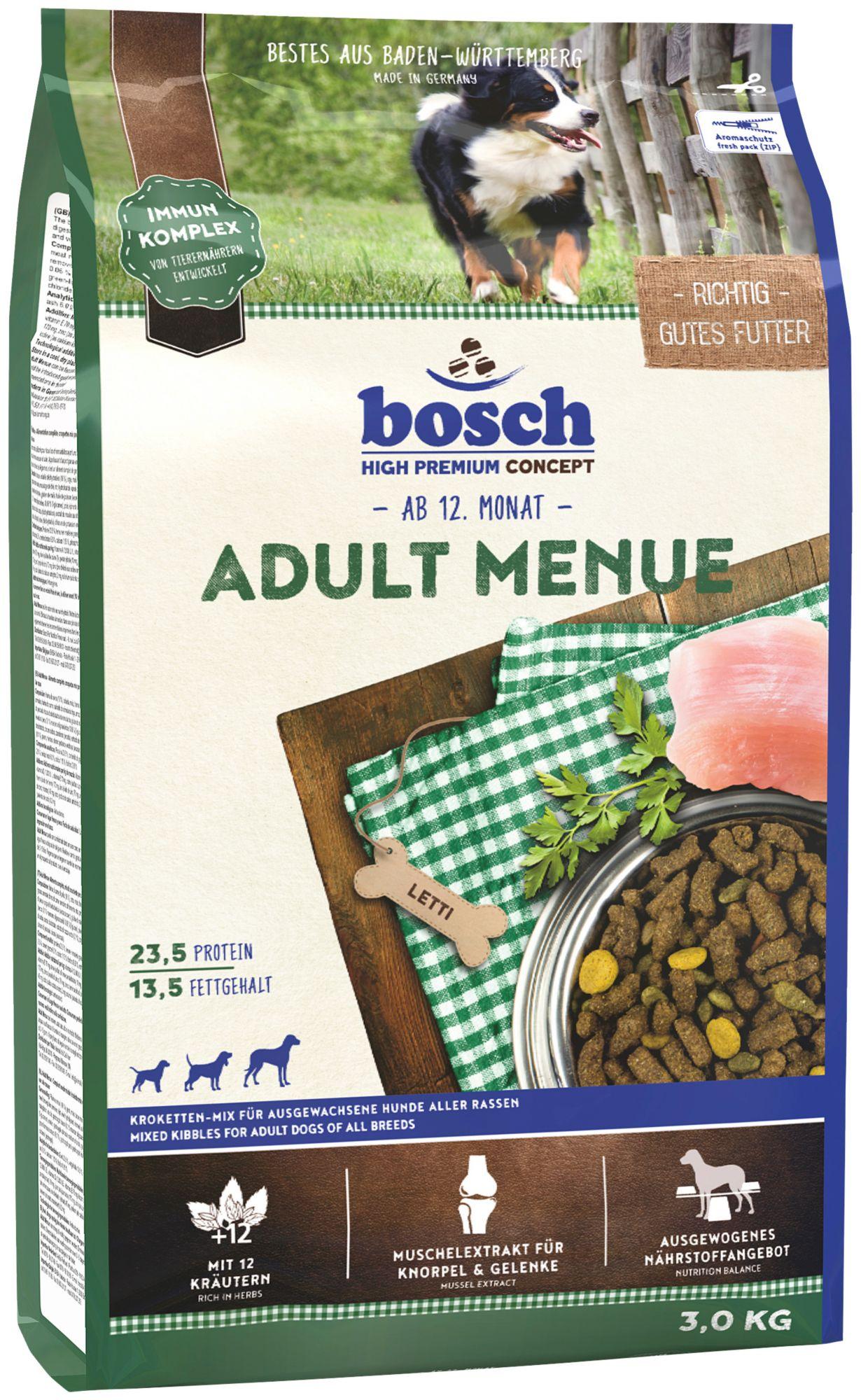 BOSCH PETFOOD Hundetrockenfutter »Adult Menue«, 3 kg