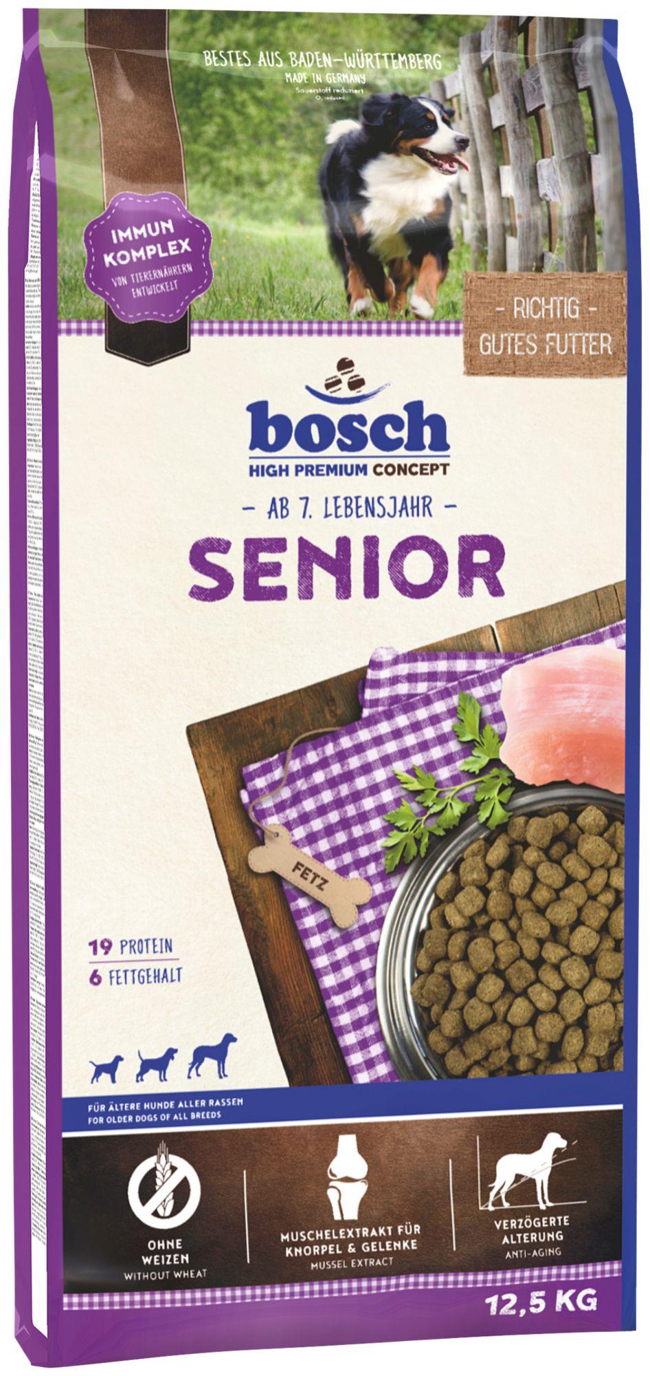 BOSCH PETFOOD Hundetrockenfutter »Senior«, 12,5 kg