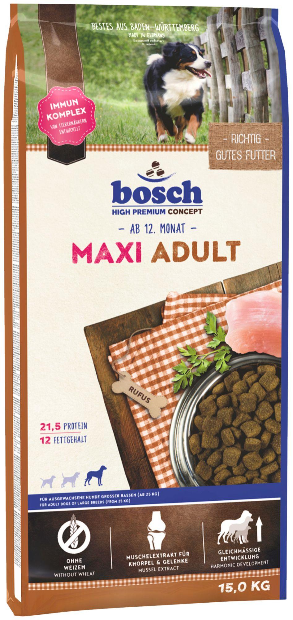 BOSCH PETFOOD Hundetrockenfutter »Maxi Adult«, 15 kg