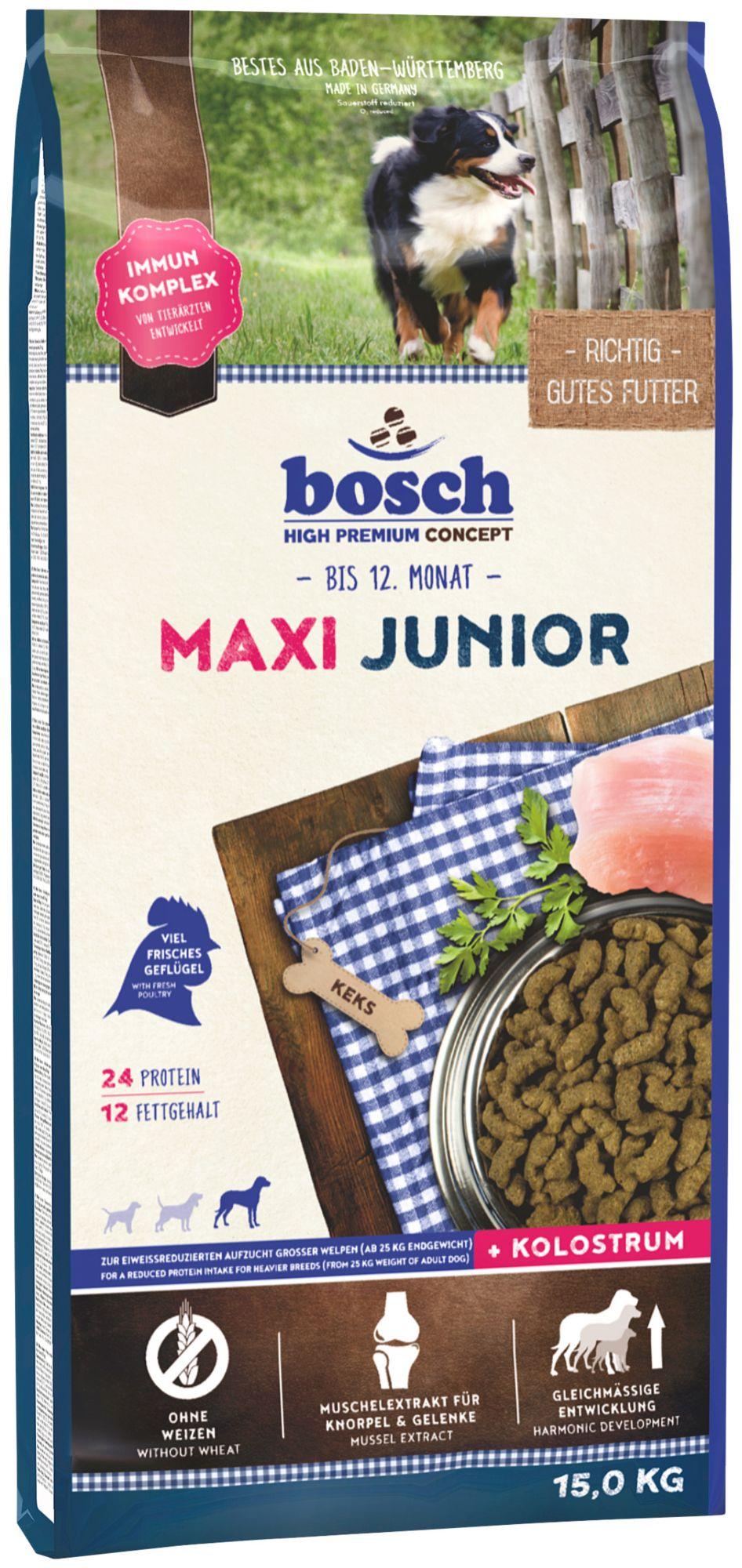 BOSCH PETFOOD Hundetrockenfutter »Maxi Junior«, 15 kg