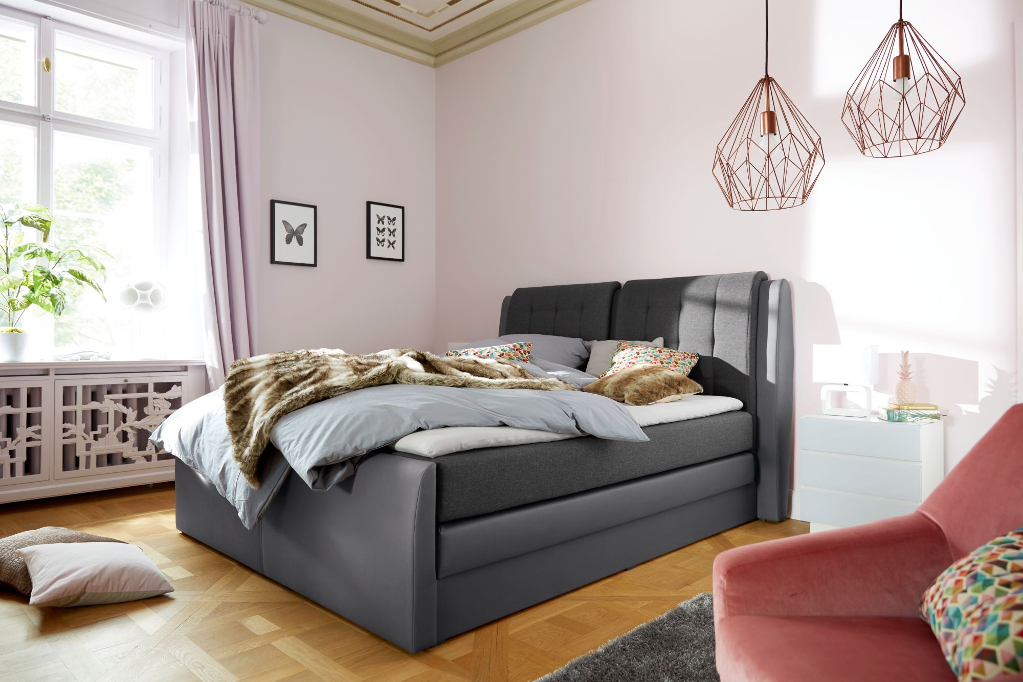 COLLECTION AB Collection AB Boxspringbett »Rubene«, inkl. Bettkasten und Topper