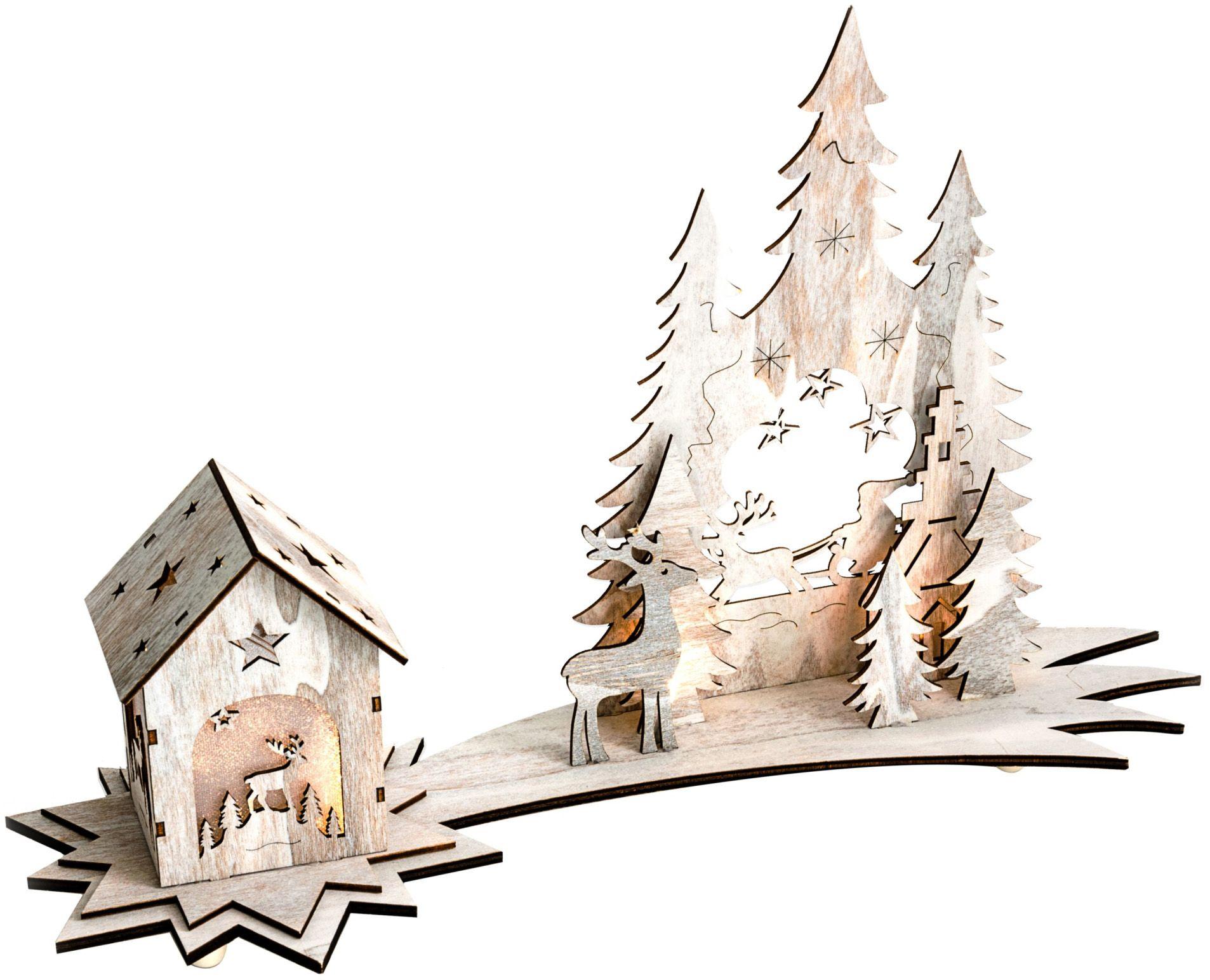 MAILORD Best of home Beleuchtetes Deko-Objekt Winterwunderland