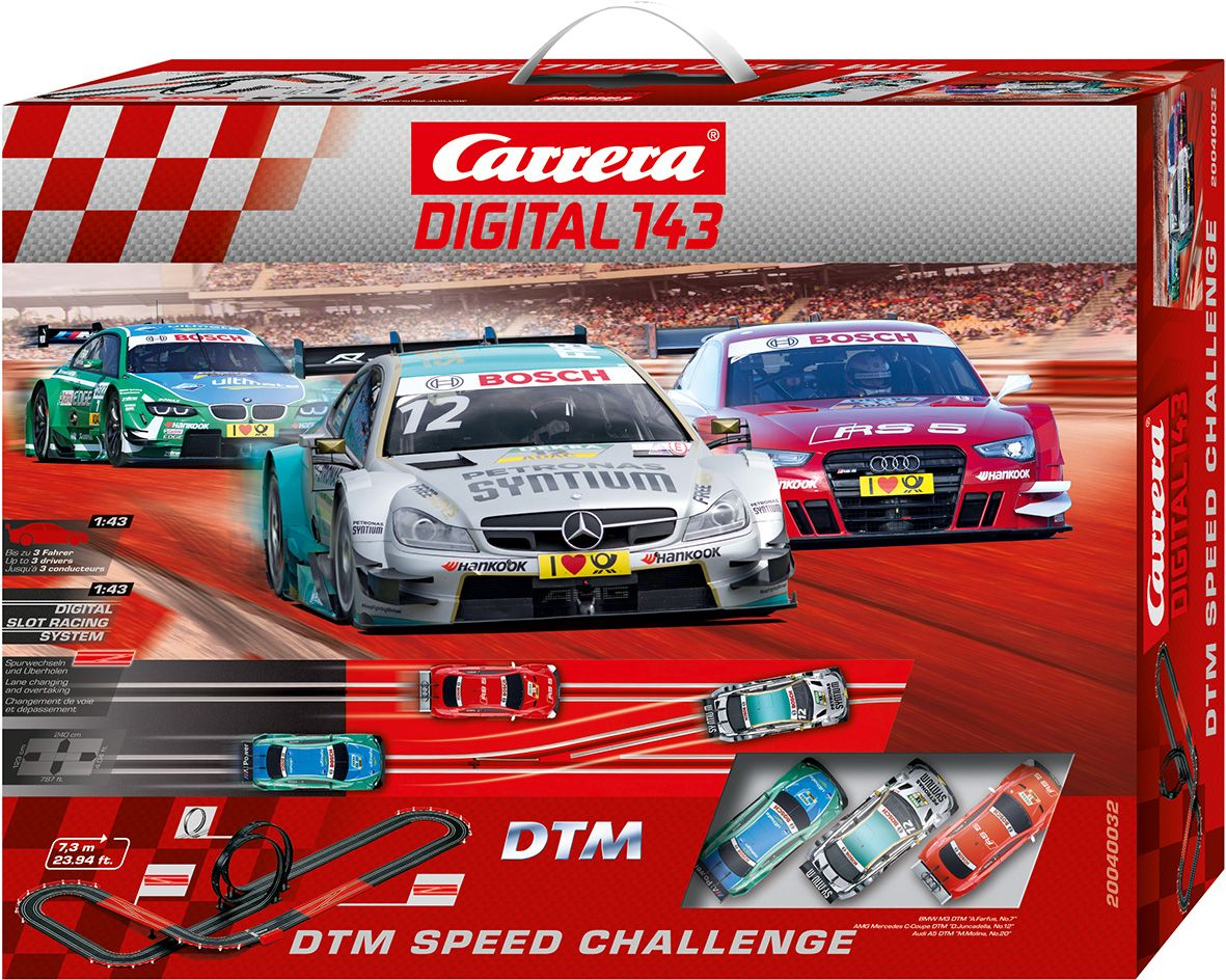 CARRERA Carrera Autorennbahn, »Carrera® Digital 143 DTM Speed Challenge«