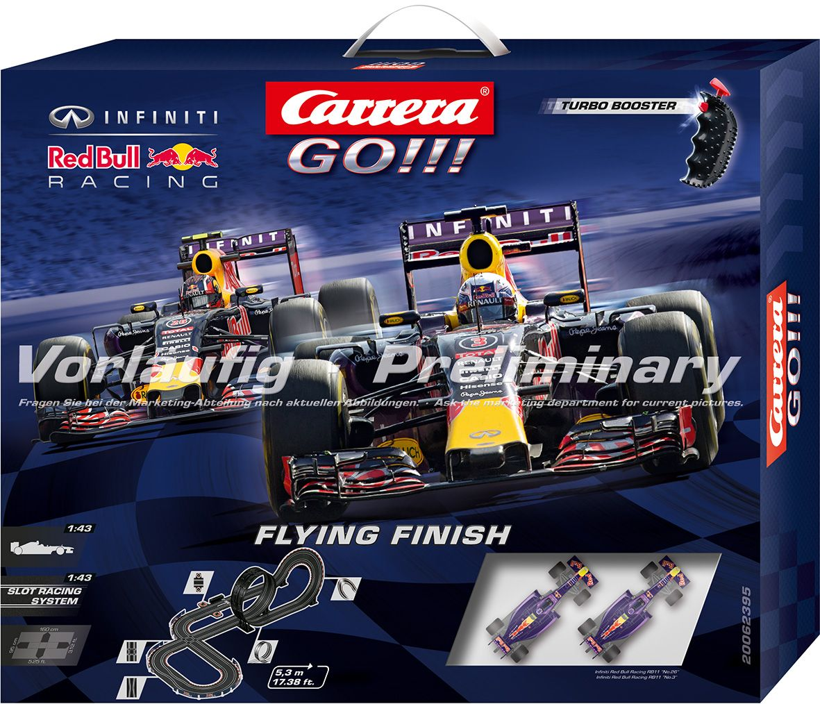 CARRERA Carrera Autorennbahn, »Carrera® GO!!! Flying Finish«