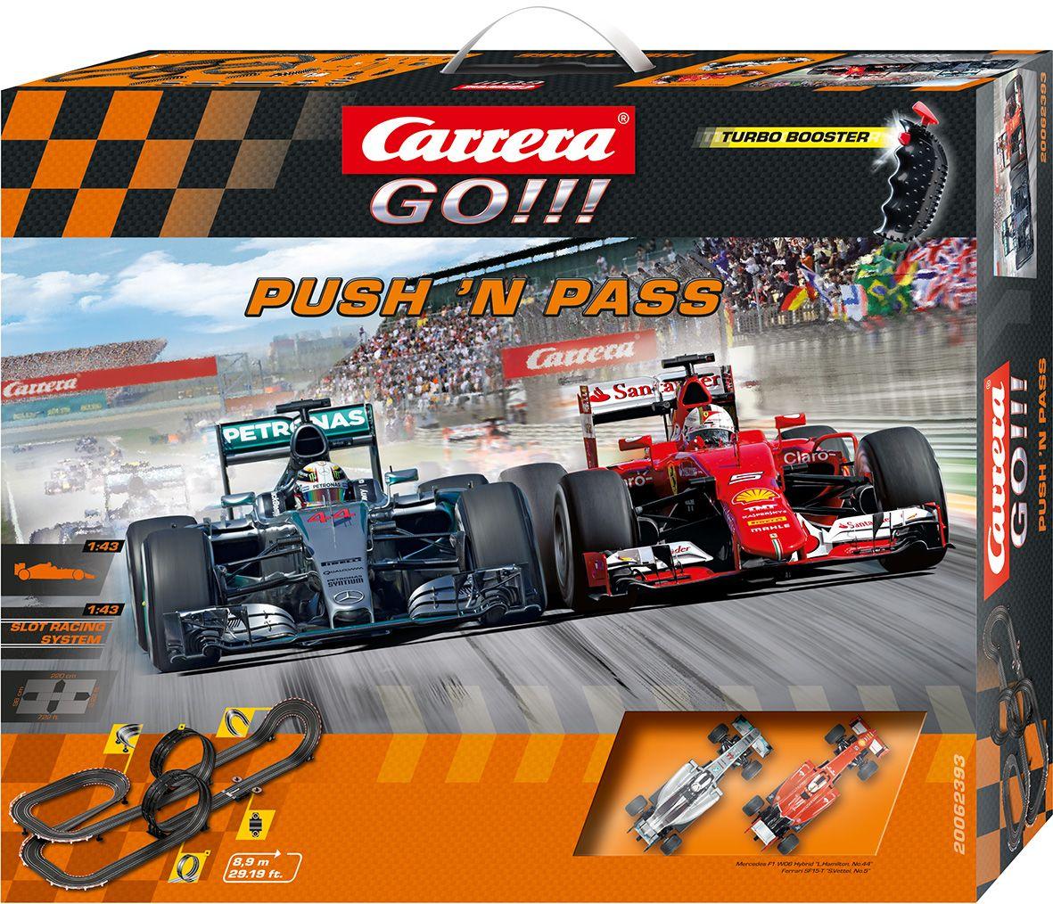 CARRERA Carrera Autorennbahn, »Carrera® GO!!! Push 'n pass«