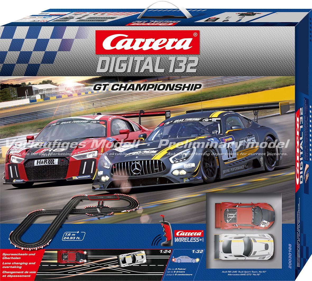 CARRERA Carrera Autorennbahn, »Carrera® Digital 132 GT Championship«