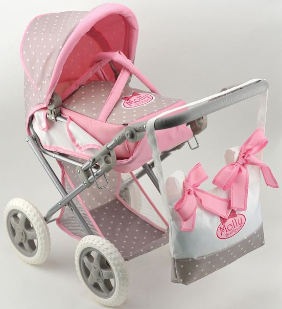 DIMIAN Dimian Kombipuppenwagen, »Bambolina Boutique Puppenwagen mit Handtasche«