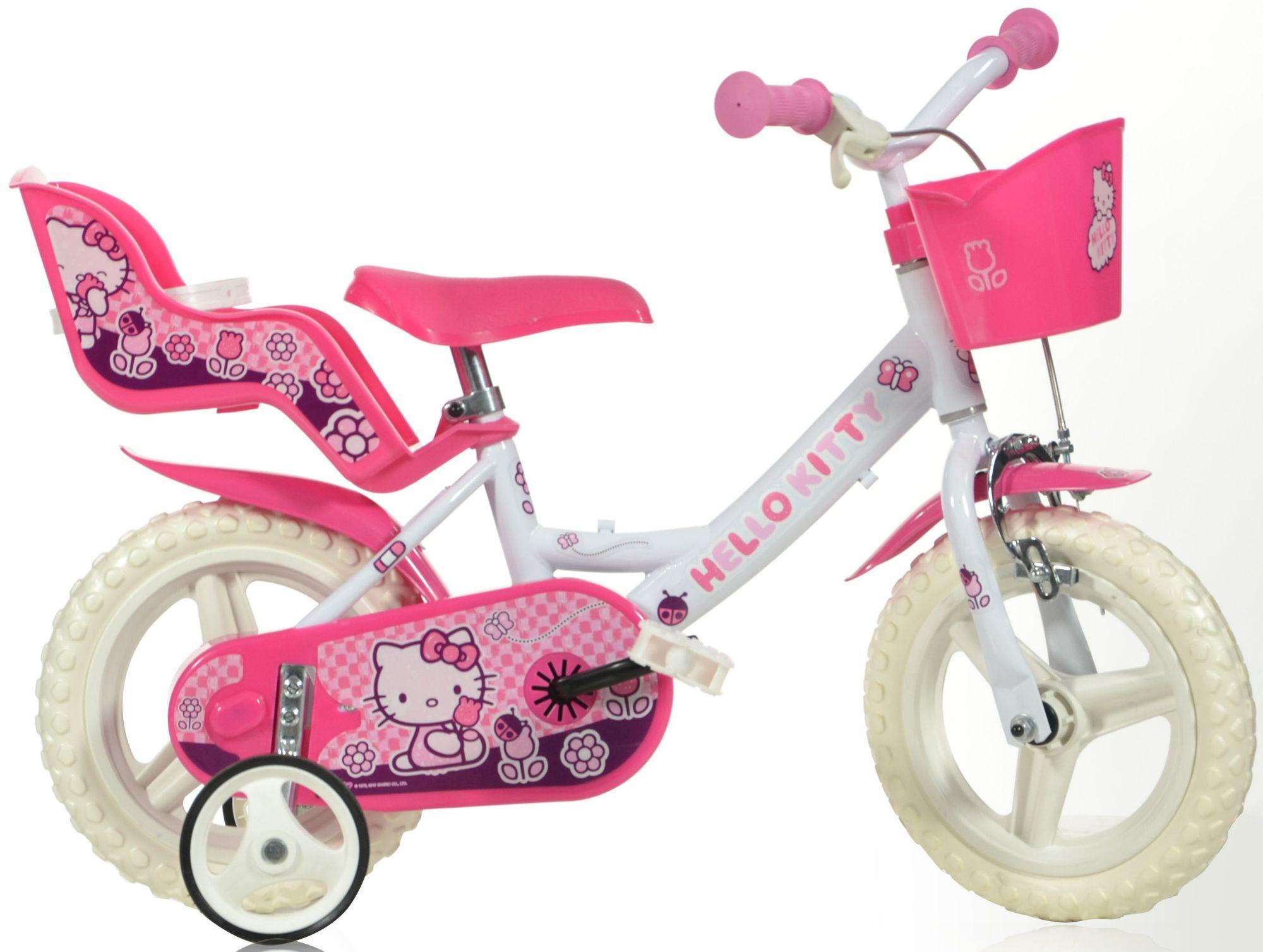 HELLO KITTY Kinderrad, mit Lenkerkorb + Puppensitz, in 12 Zoll »Hello Kitty«