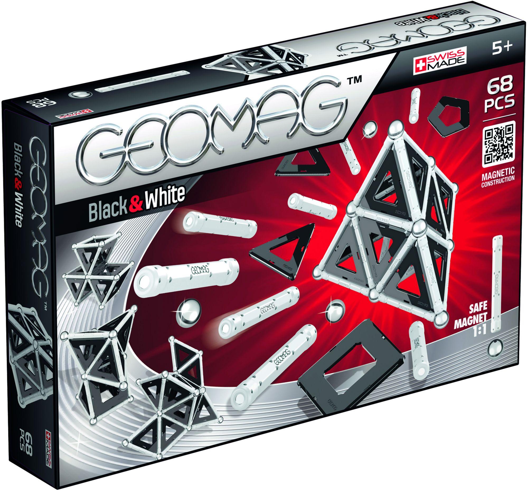 GEOMAG Geomag? Konstruktionsspielzeug (68-tlg.), »Black & White«