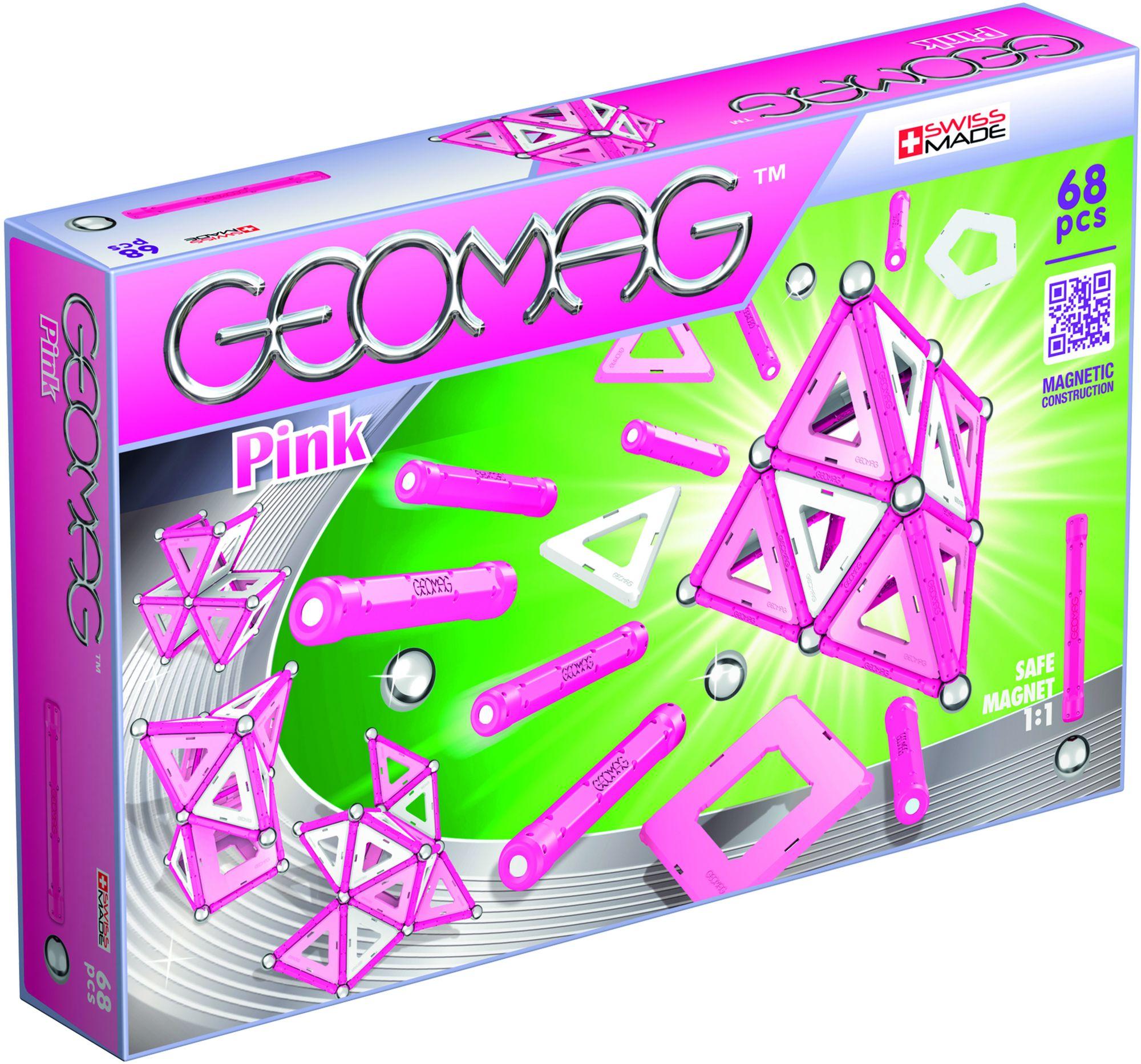 GEOMAG Geomag? Konstruktionsspielzeug (68-tlg.), »Pink«