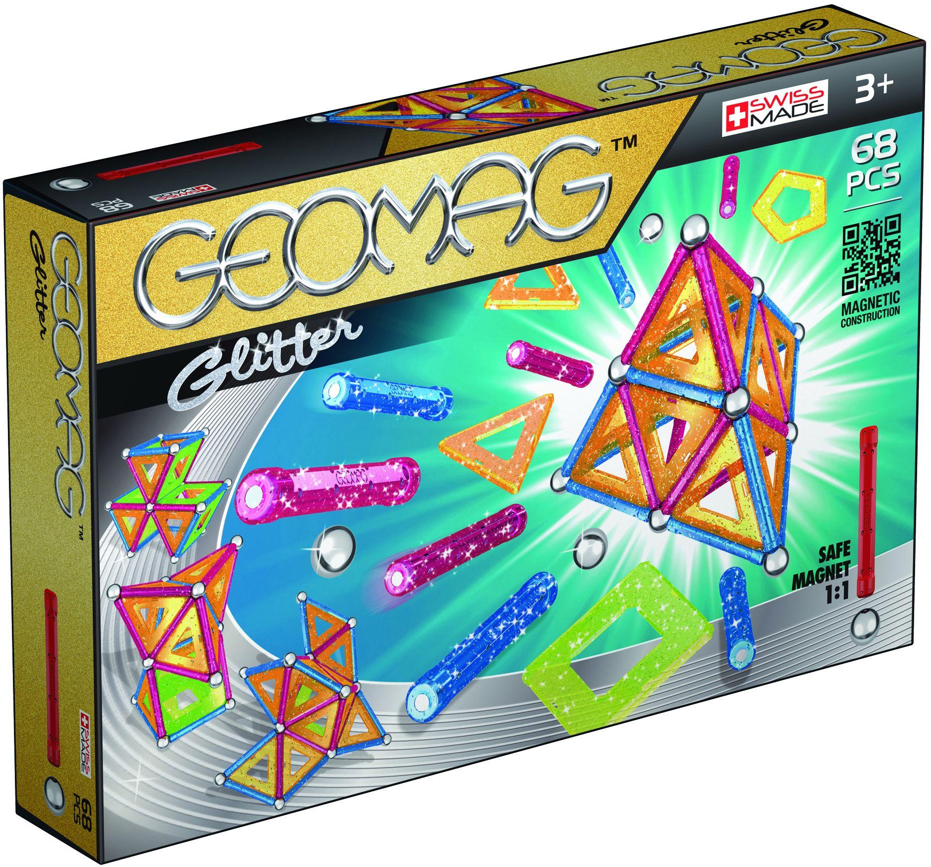 GEOMAG Geomag? Konstruktionsspielzeug (68-tlg.), »Glitter«