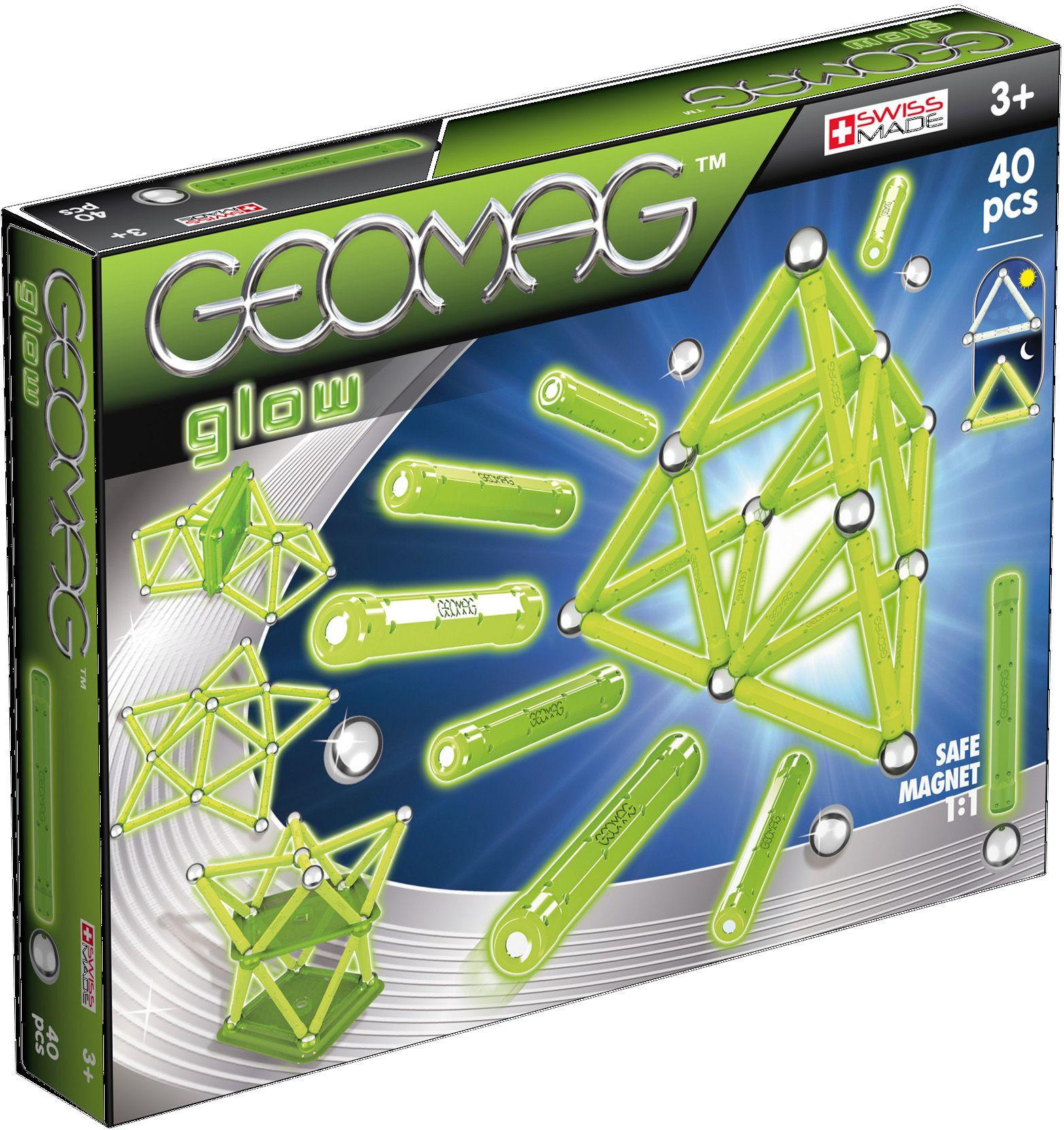 GEOMAG Geomag? Konstruktionsspielzeug (40-tlg.), »Glow«