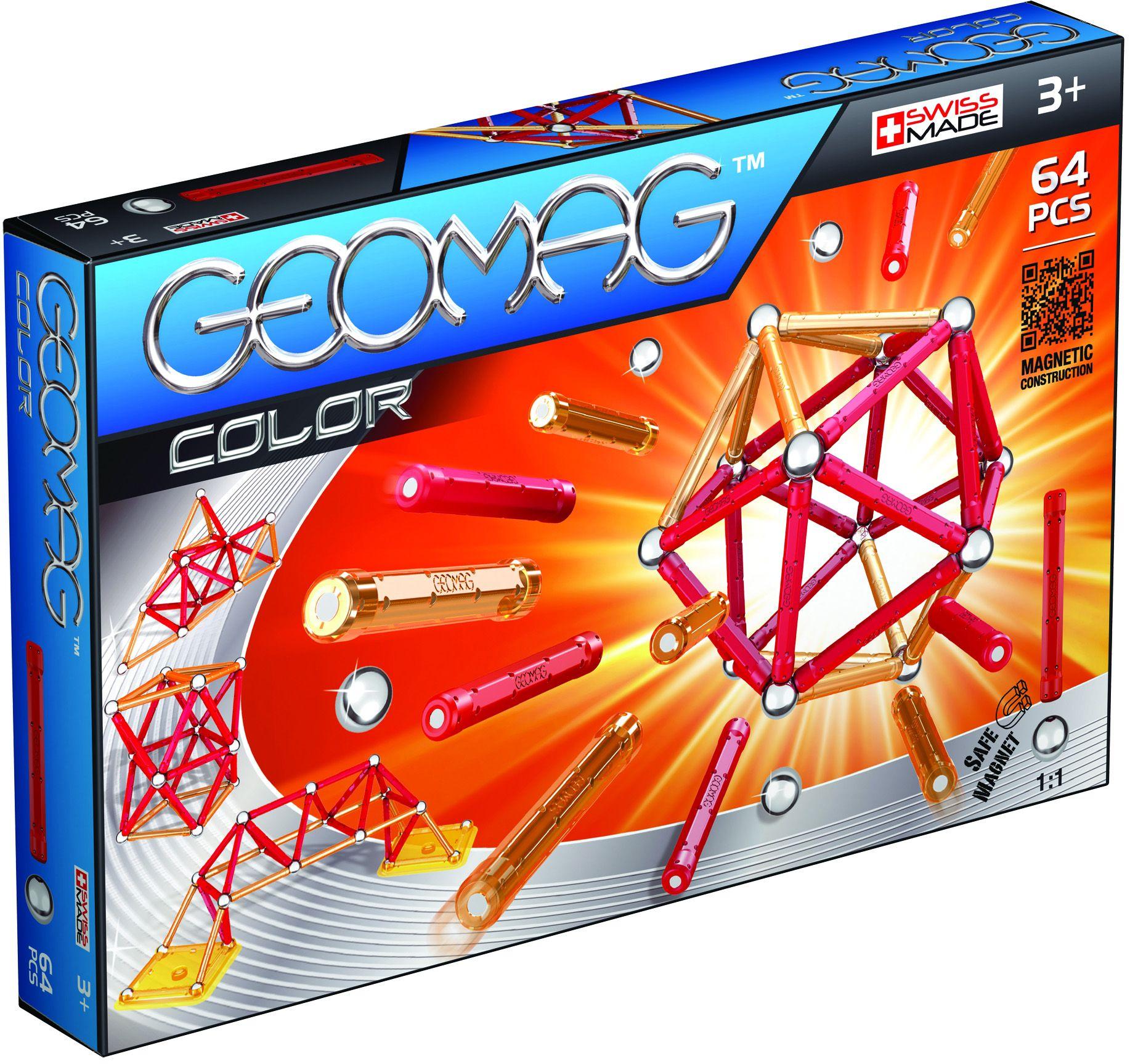 GEOMAG Geomag? Konstruktionsspielzeug (64-tlg.), »Color«