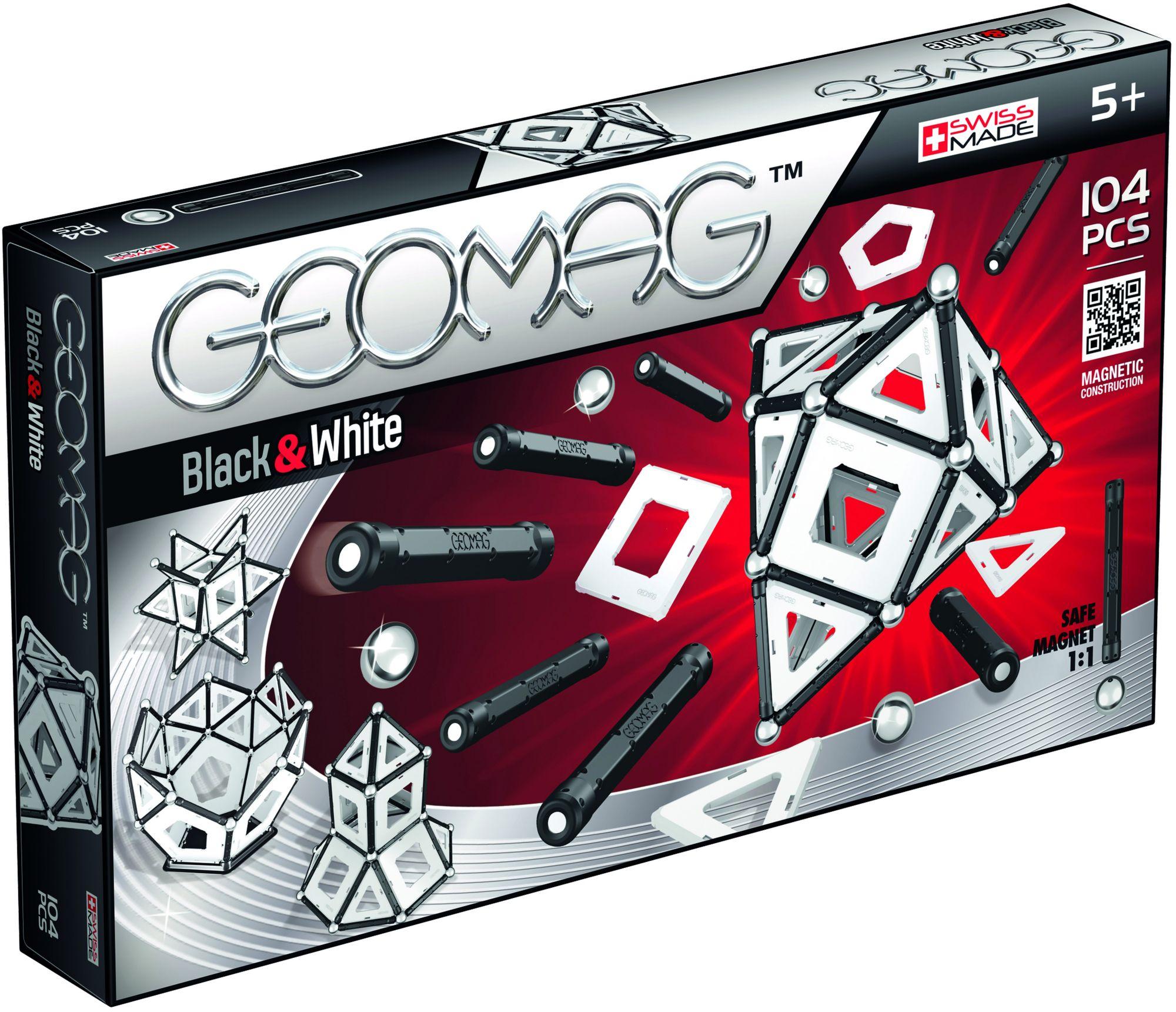 GEOMAG Geomag? Konstruktionsspielzeug (104-tlg.), »Black & White«