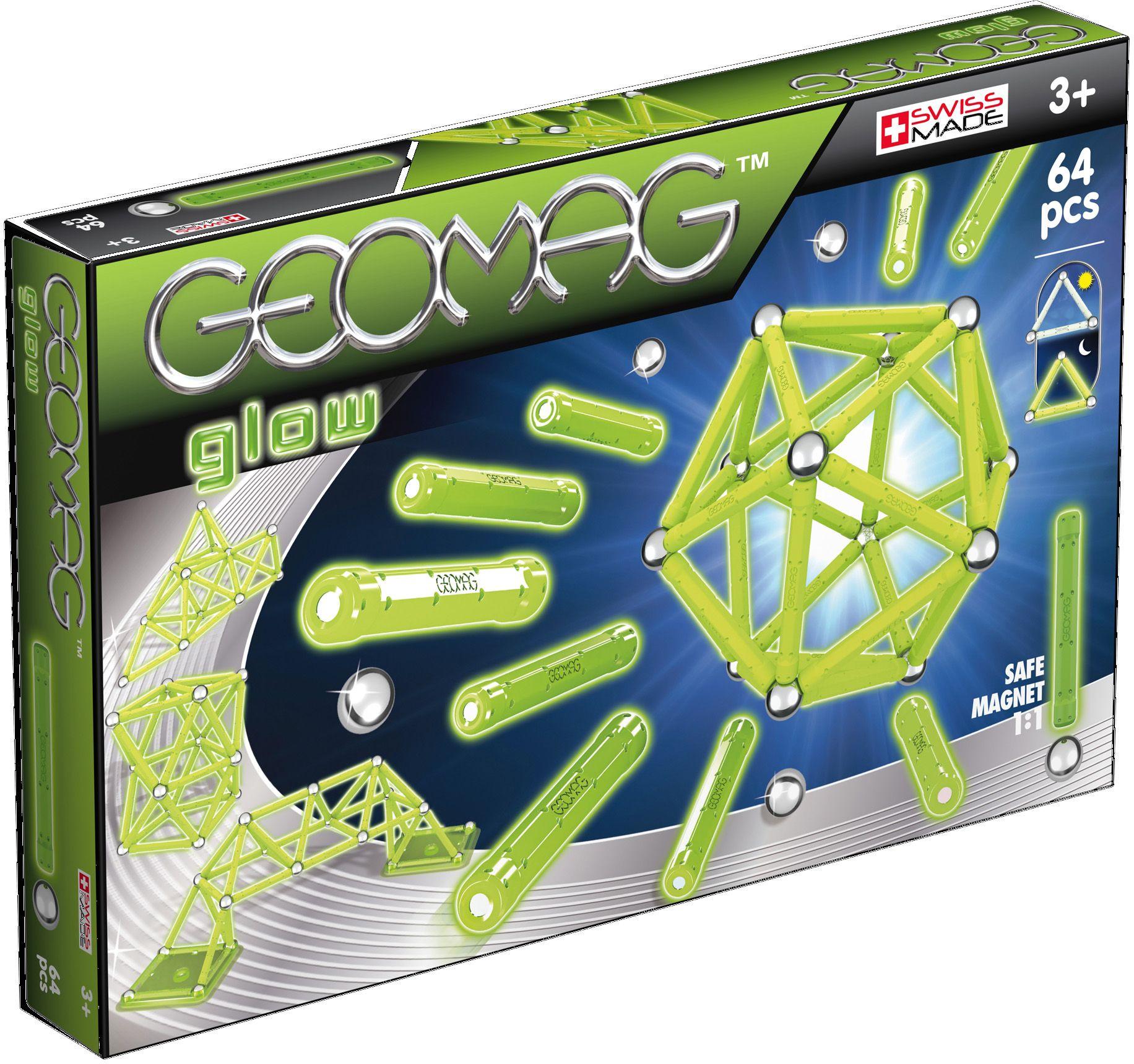 GEOMAG Geomag? Konstruktionsspielzeug (64-tlg.), »Glow«