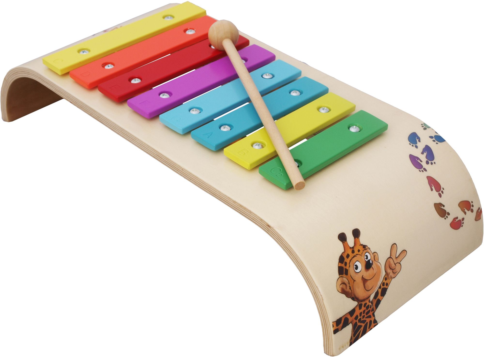 BELUGA Beluga Kinder-Glockenspiel, »Giraffenaffen Xylophon«