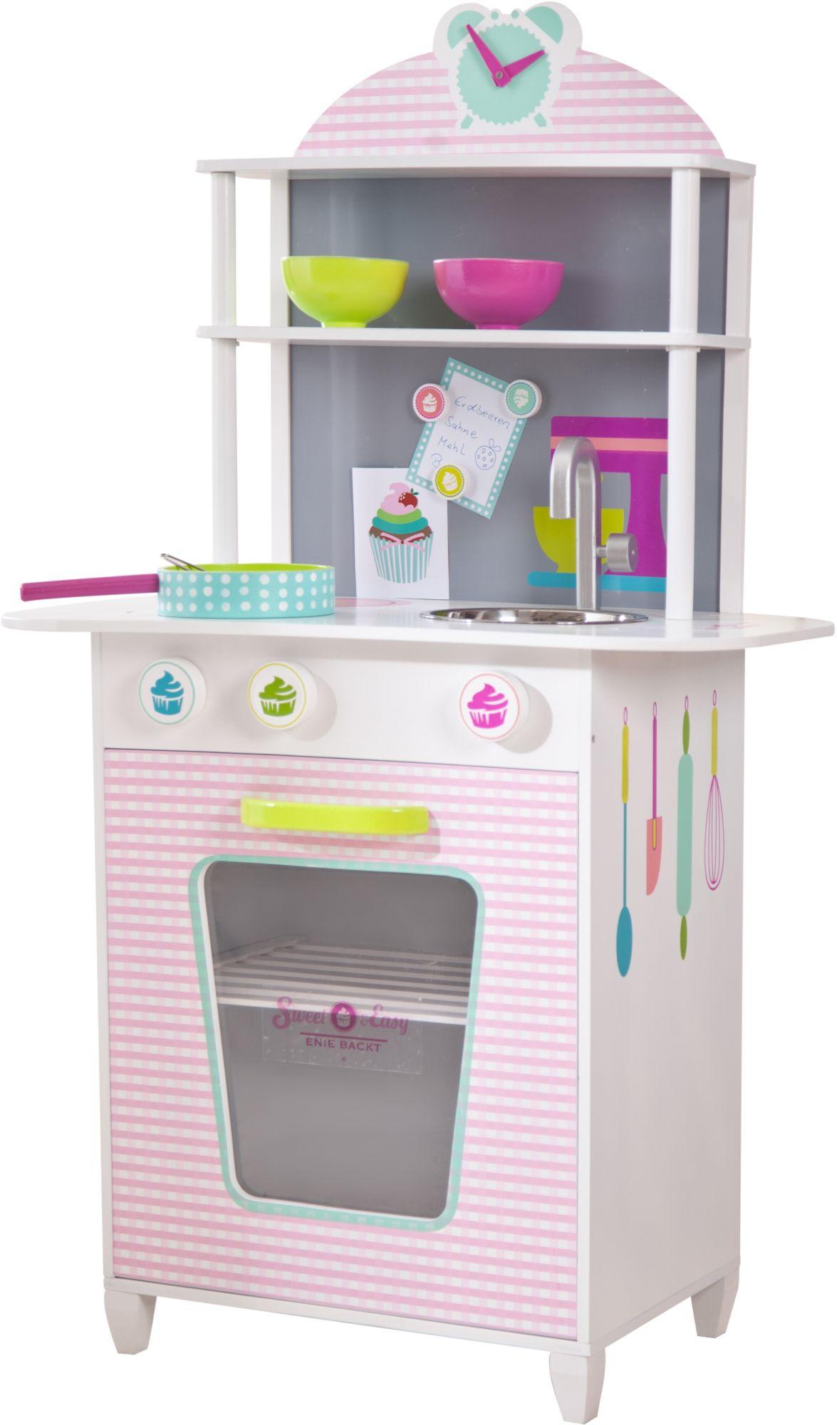BELUGA Beluga Spielküche, »Sweet + Easy Holzküche rosa/weiss«