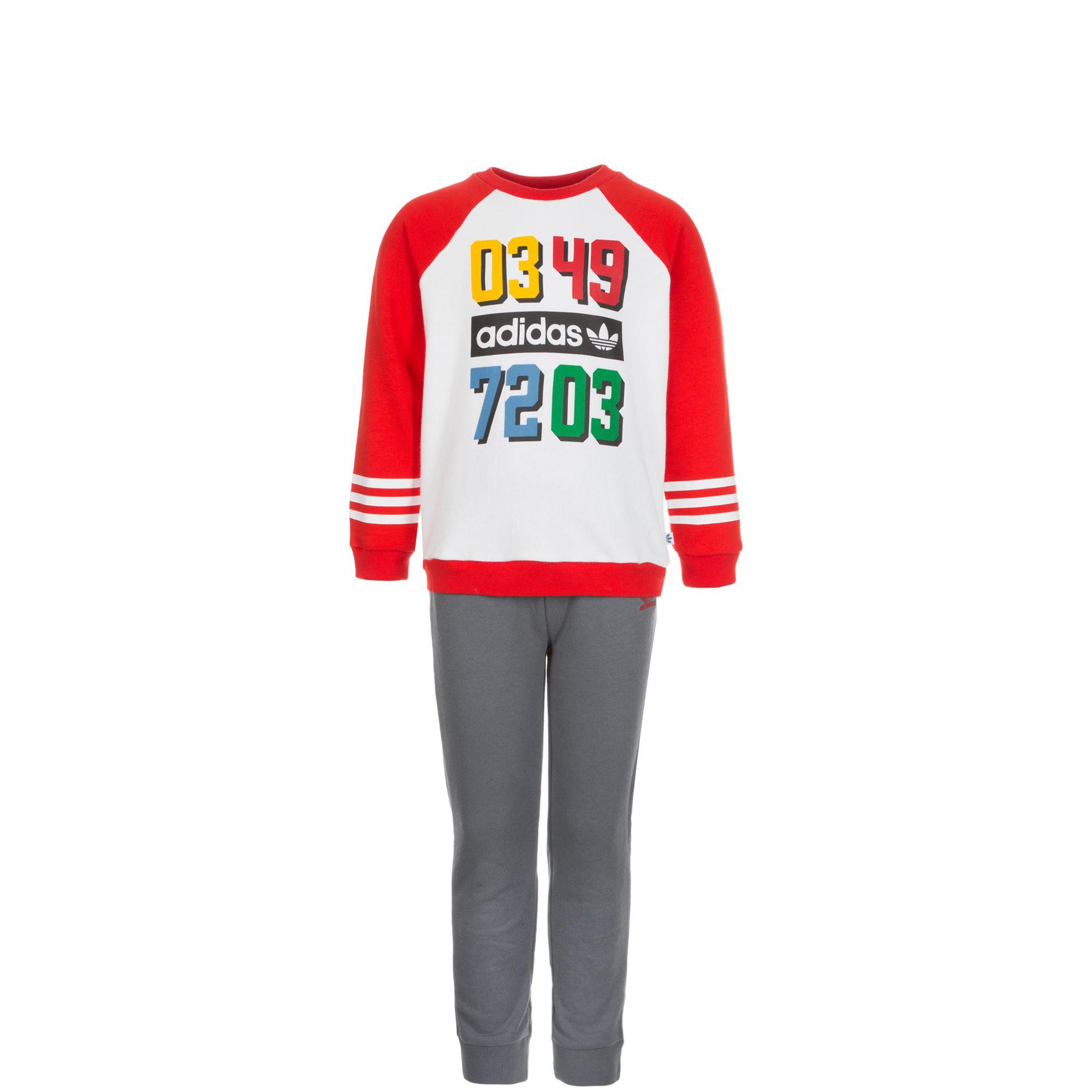ADIDAS ORIGINALS adidas Originals Set: YWF Crew Freizeitanzug Kleinkinder (Packung, 2 tlg.)