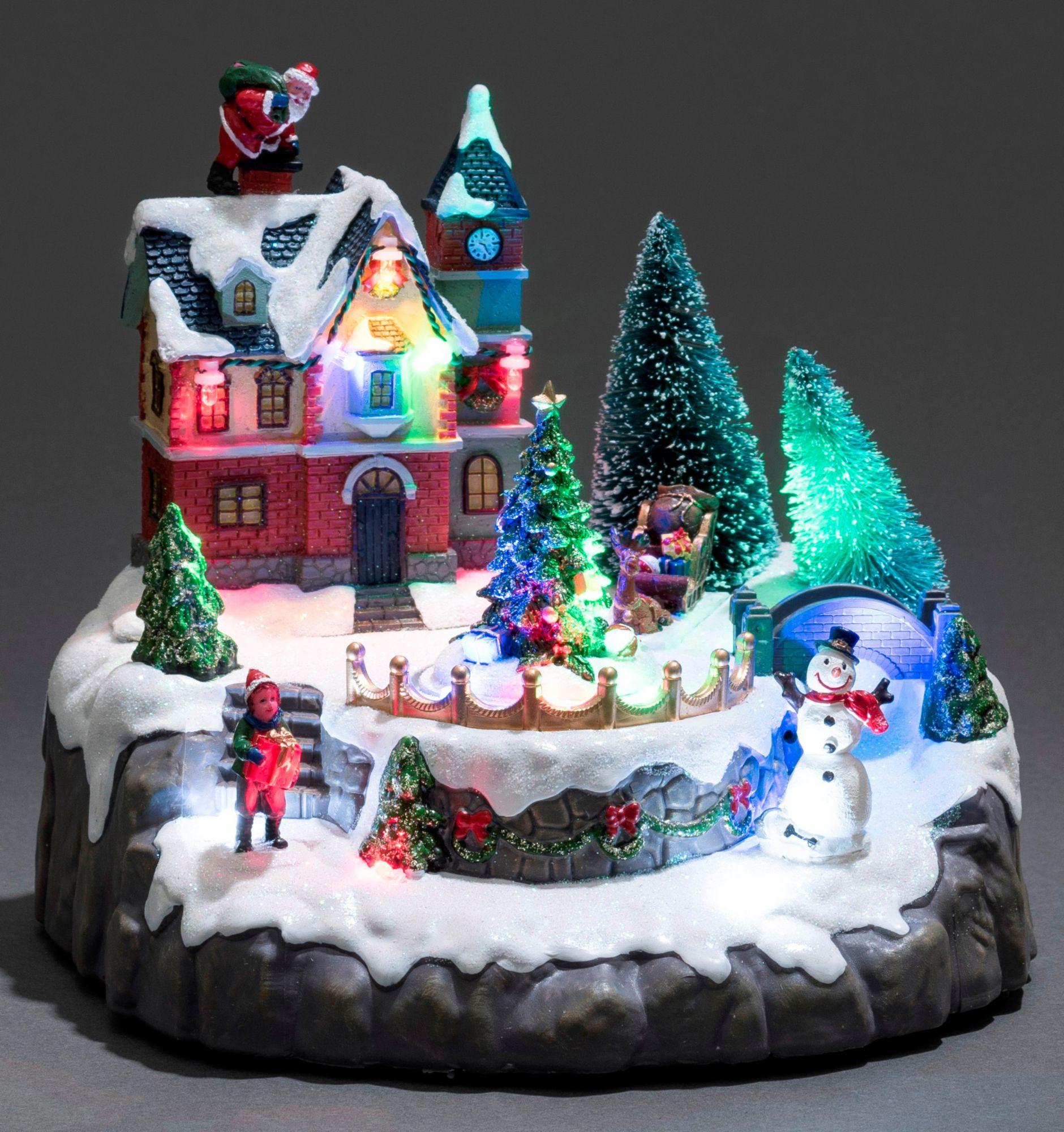 KONSTSMIDE Konstsmide LED Szenerie, »Wohnhaus mit Weihnachtsbäumen«
