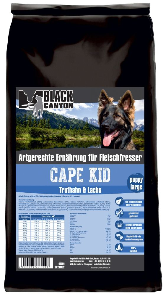 BLACK CANYON Hundetrockenfutter »Cape Kid Puppy Large«, 15 kg