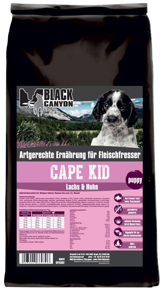 BLACK CANYON Black Canyon Hundetrockenfutter »Cape Kid Lachs & Huhn«, 15 kg