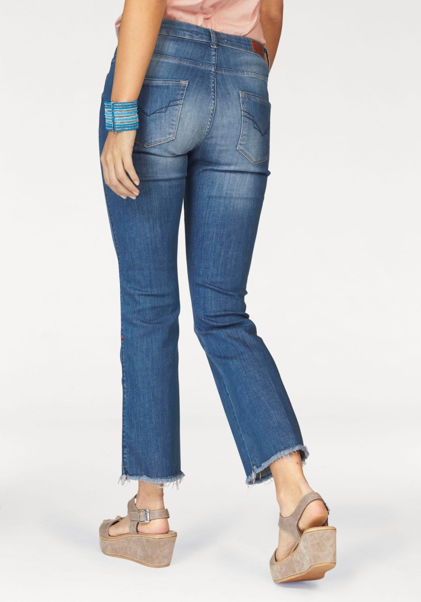 HIS H.I.S Bootcut-Jeans »Cropped Sunny«