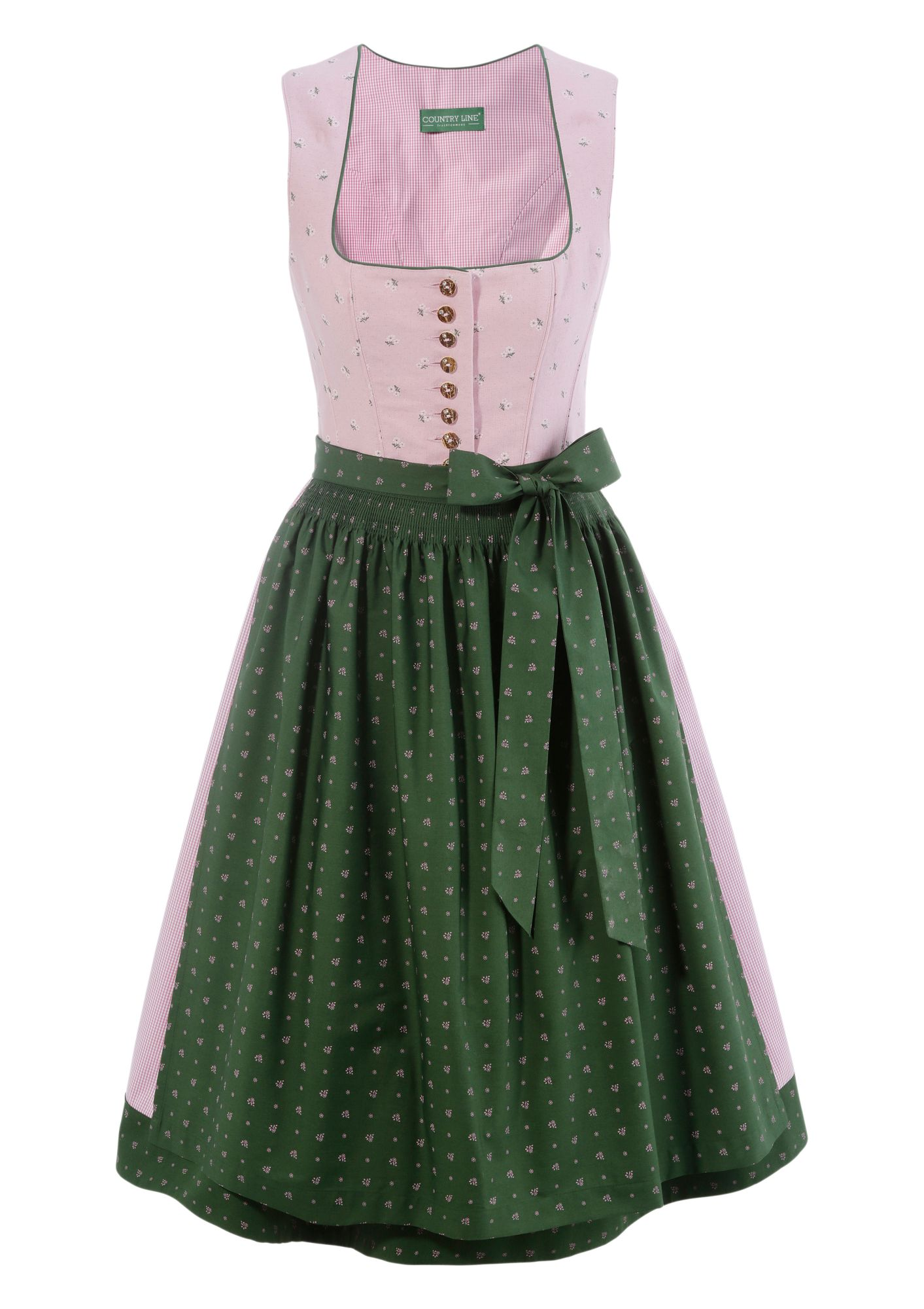 COUNTRY LINE Country Line Dirndl midi in Leinenoptik