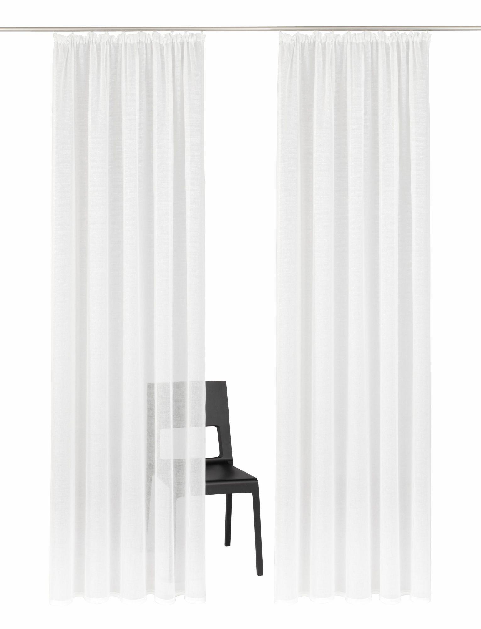 HOME AFFAIRE COLLECTION Gardine, Home affaire Collection, »Mindoro«, Kräuselband (2 Stück)
