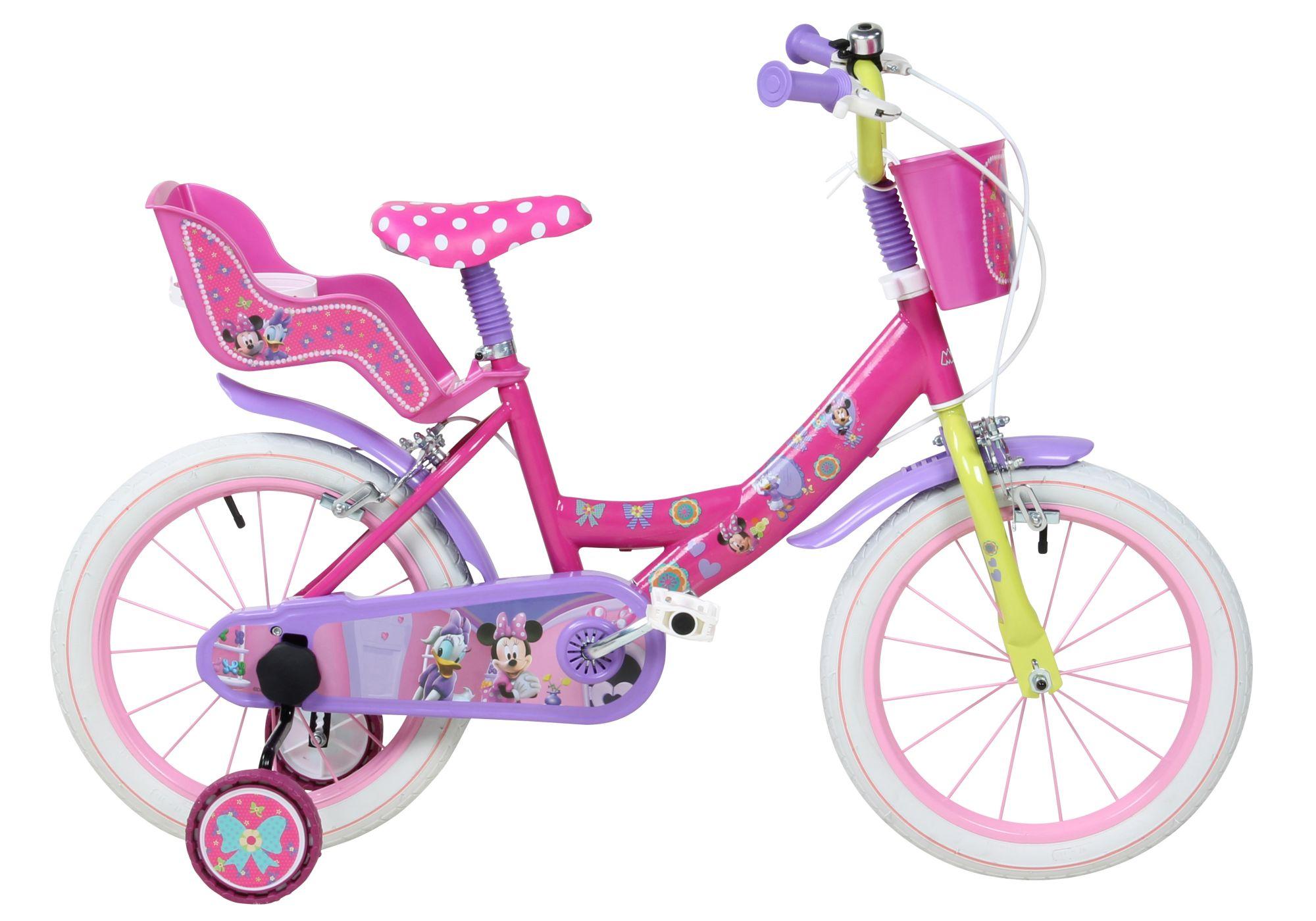 DISNEY Disney Kinderfahrrad Mädchen, 16 Zoll, U-Brakes, »Minnie«
