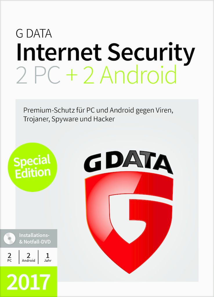 GDATA G DATA Internet Security 2PC + 2 Android 2017 (Minibox)