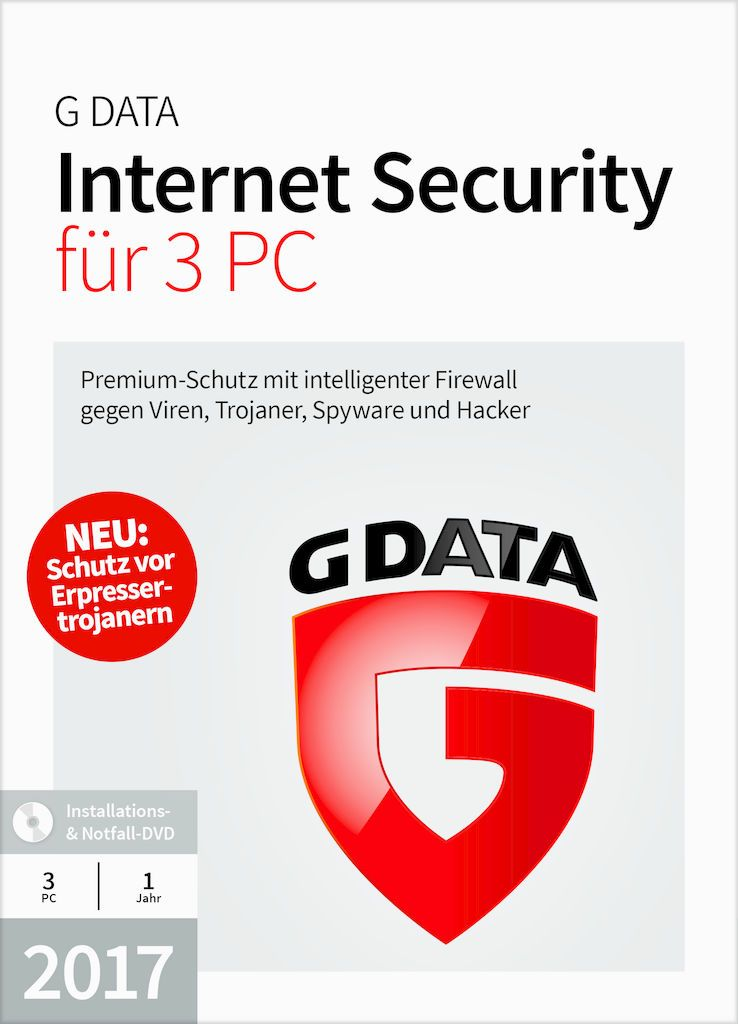 GDATA G DATA Internet Security 2017 3 PC (Minibox)