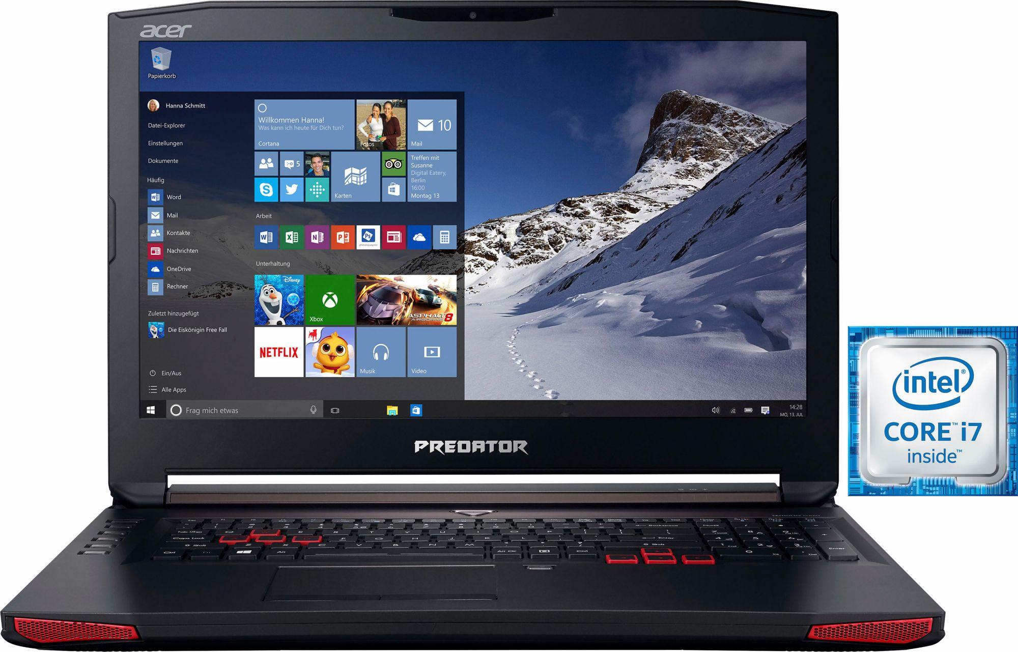 ACER Acer Predator 17 G5-793 Notebook i7-6700HQ SSD matt Full HD GTX1060 Windows 10